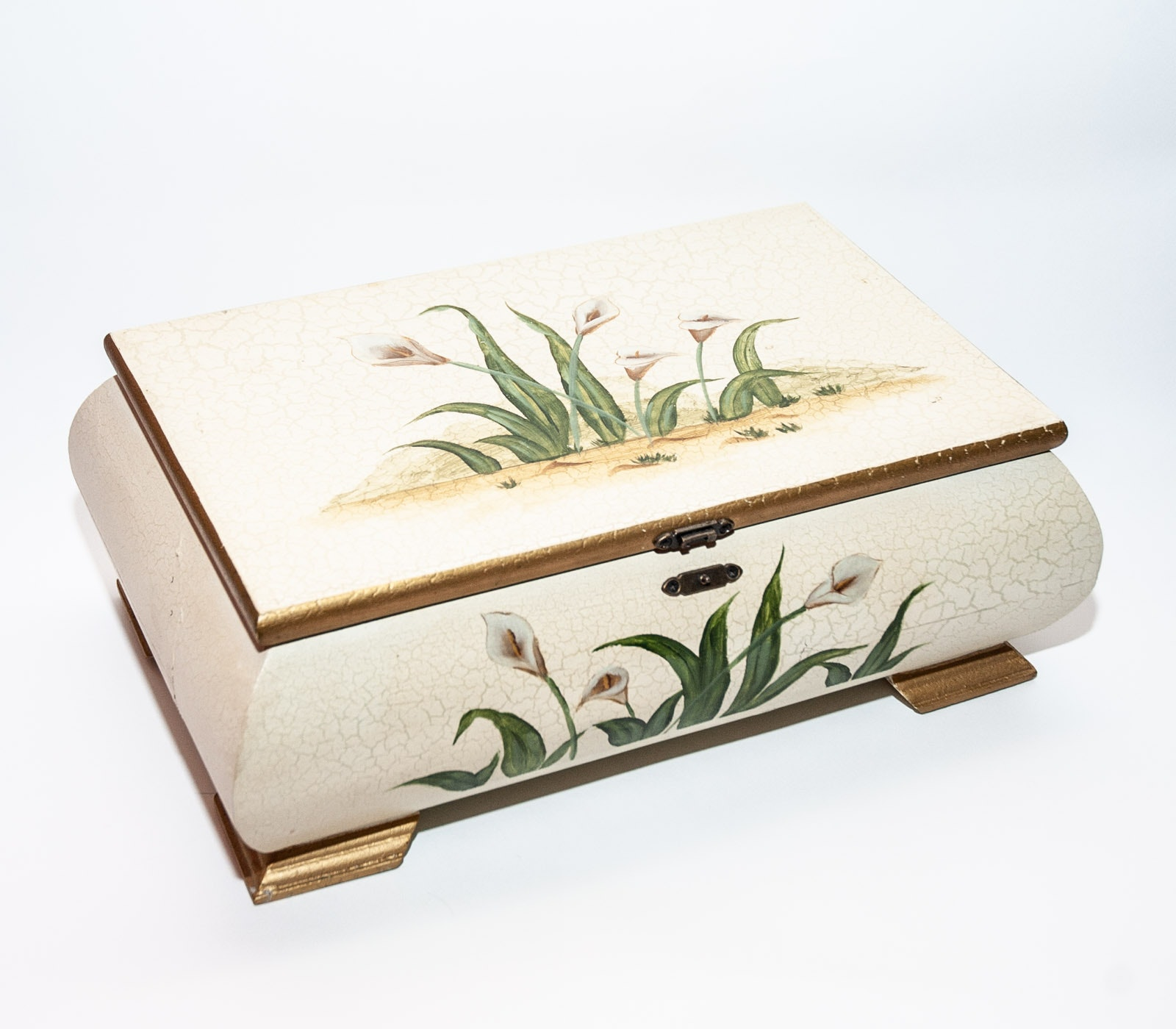 Painted Wooden Jewelry Box