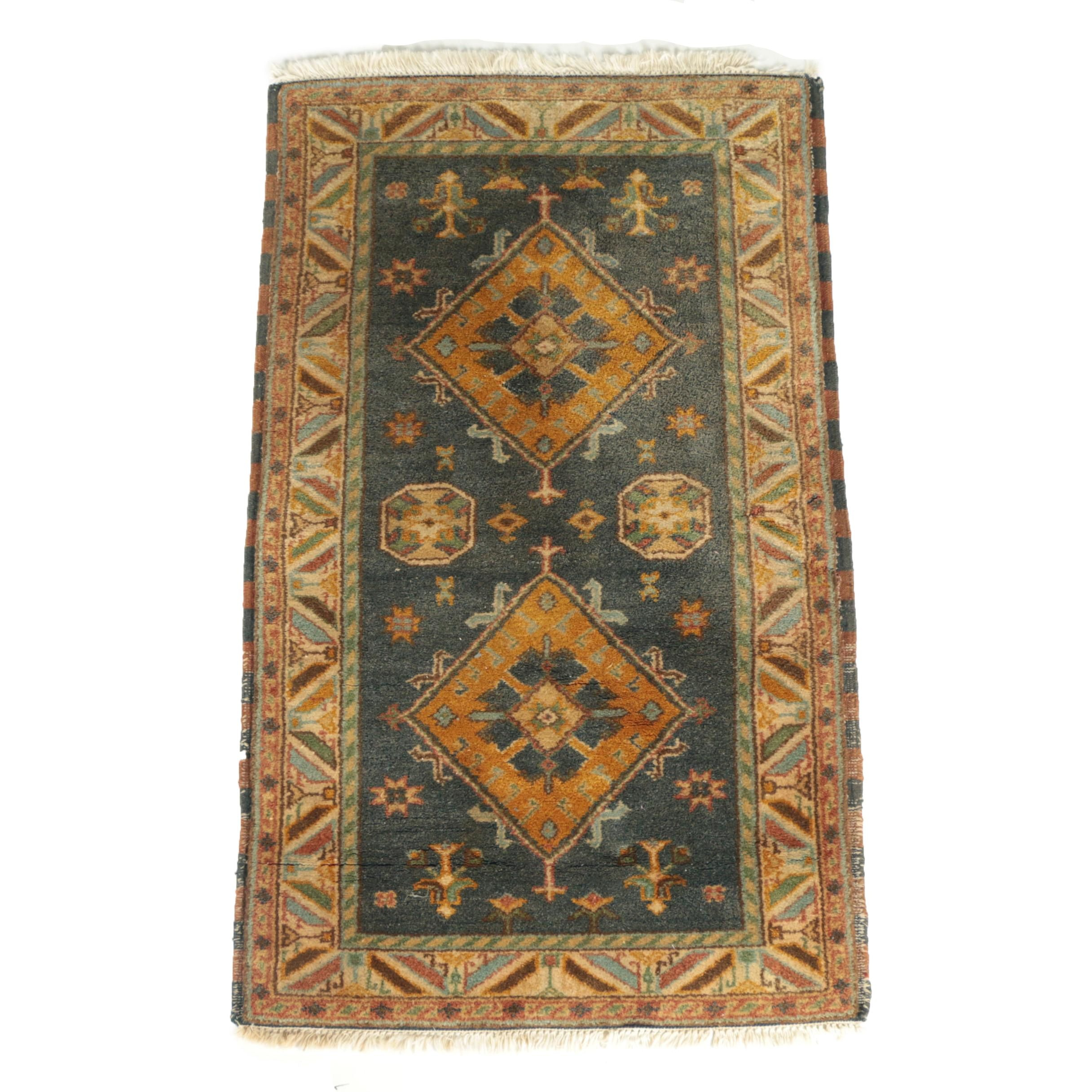 Power Loomed Caucasian-Style Wool Accent Rug