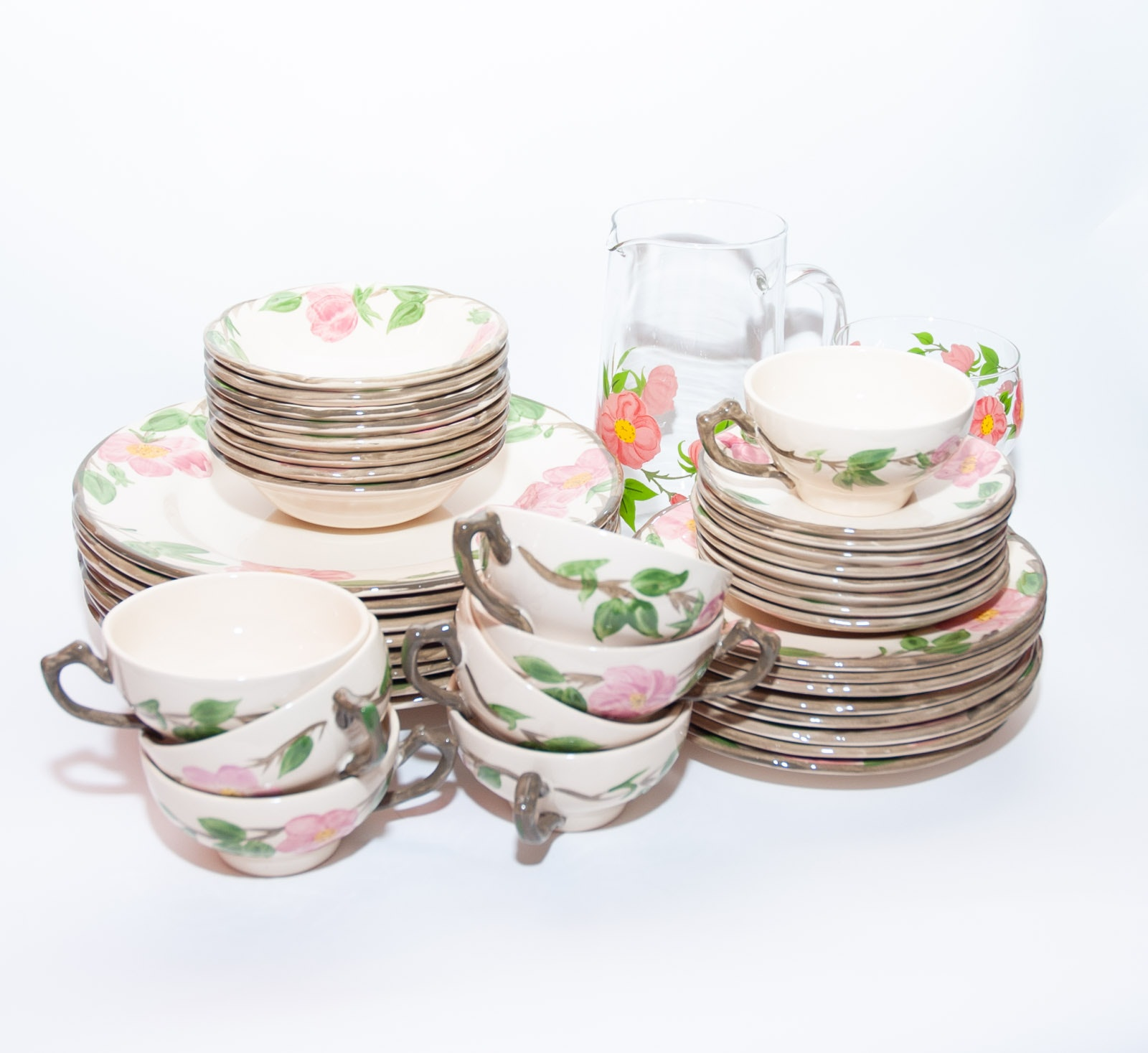 "Franciscan China in ""Desert Rose"" Pattern"