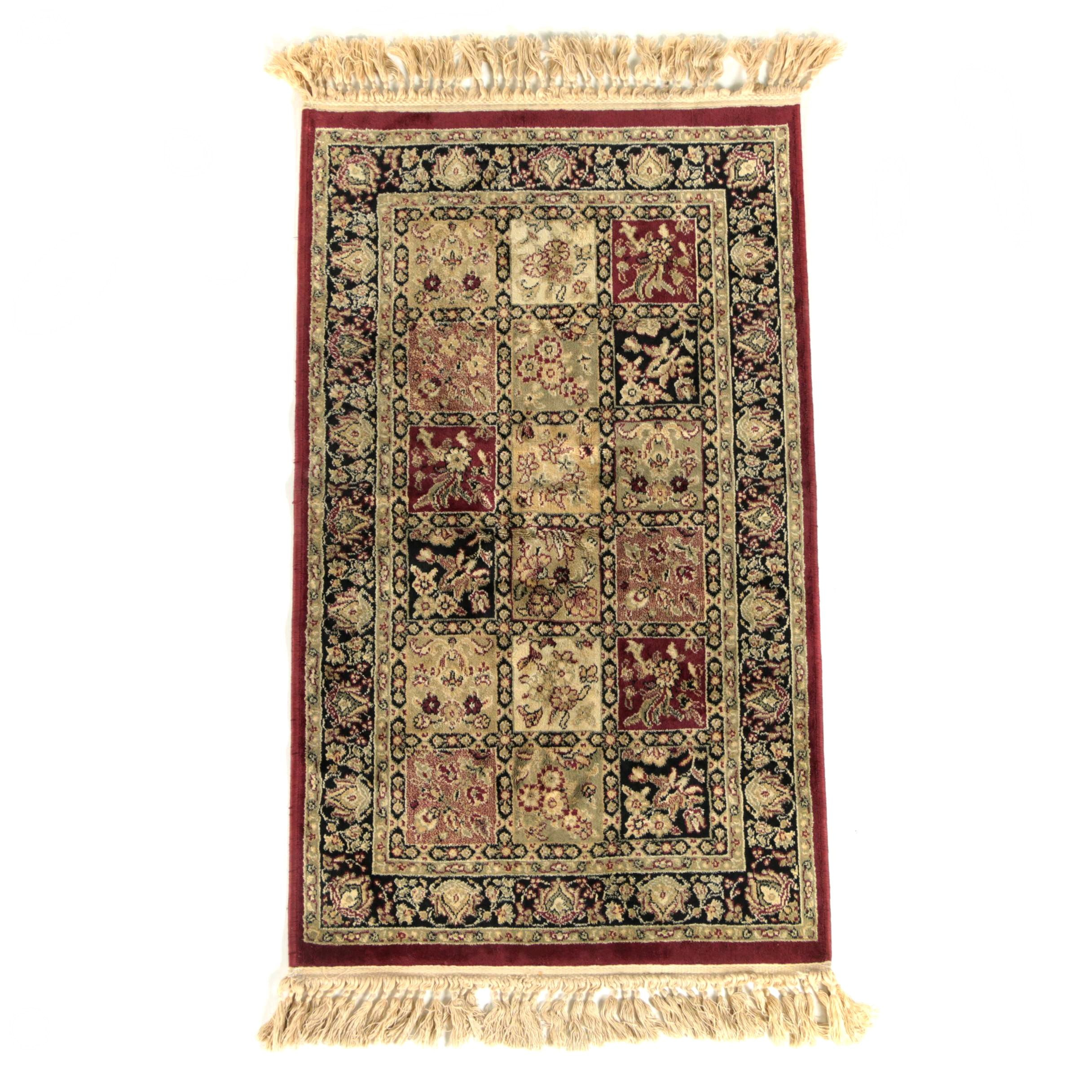 Power-Loomed Indo-Persian Bakhtiari-Style Accent Rug