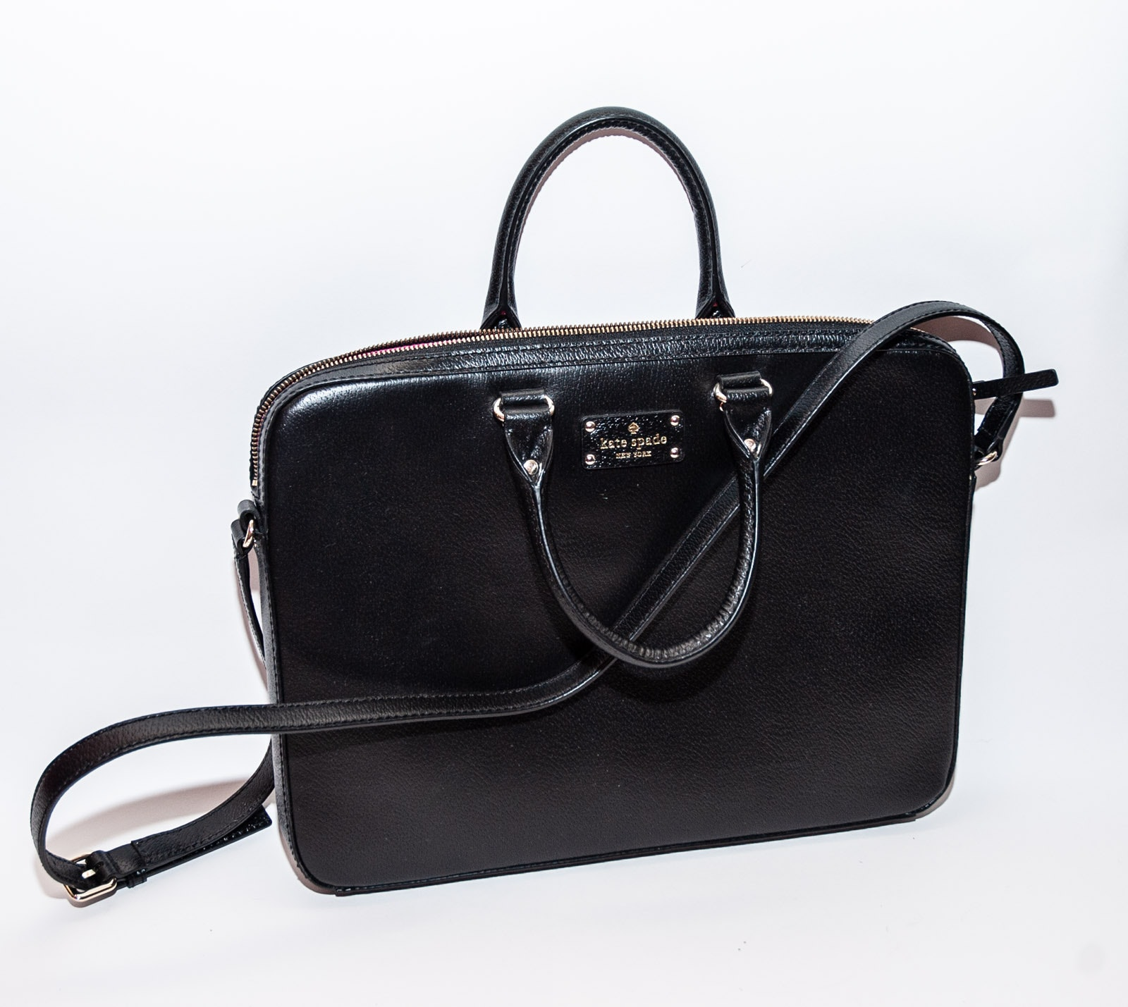 Kate Spade New York Black Leather Briefcase Bag