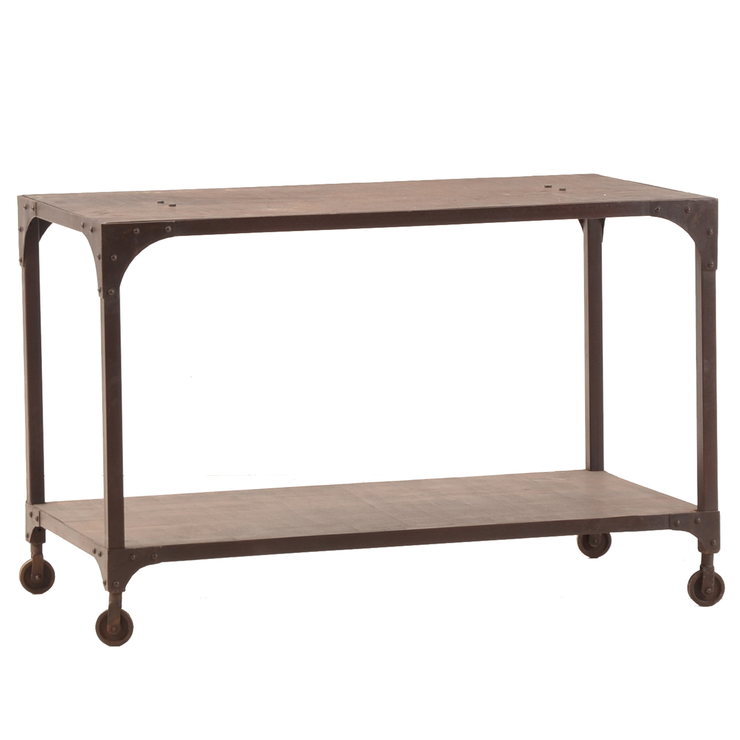 Contemporary Industrial Style Cart Table