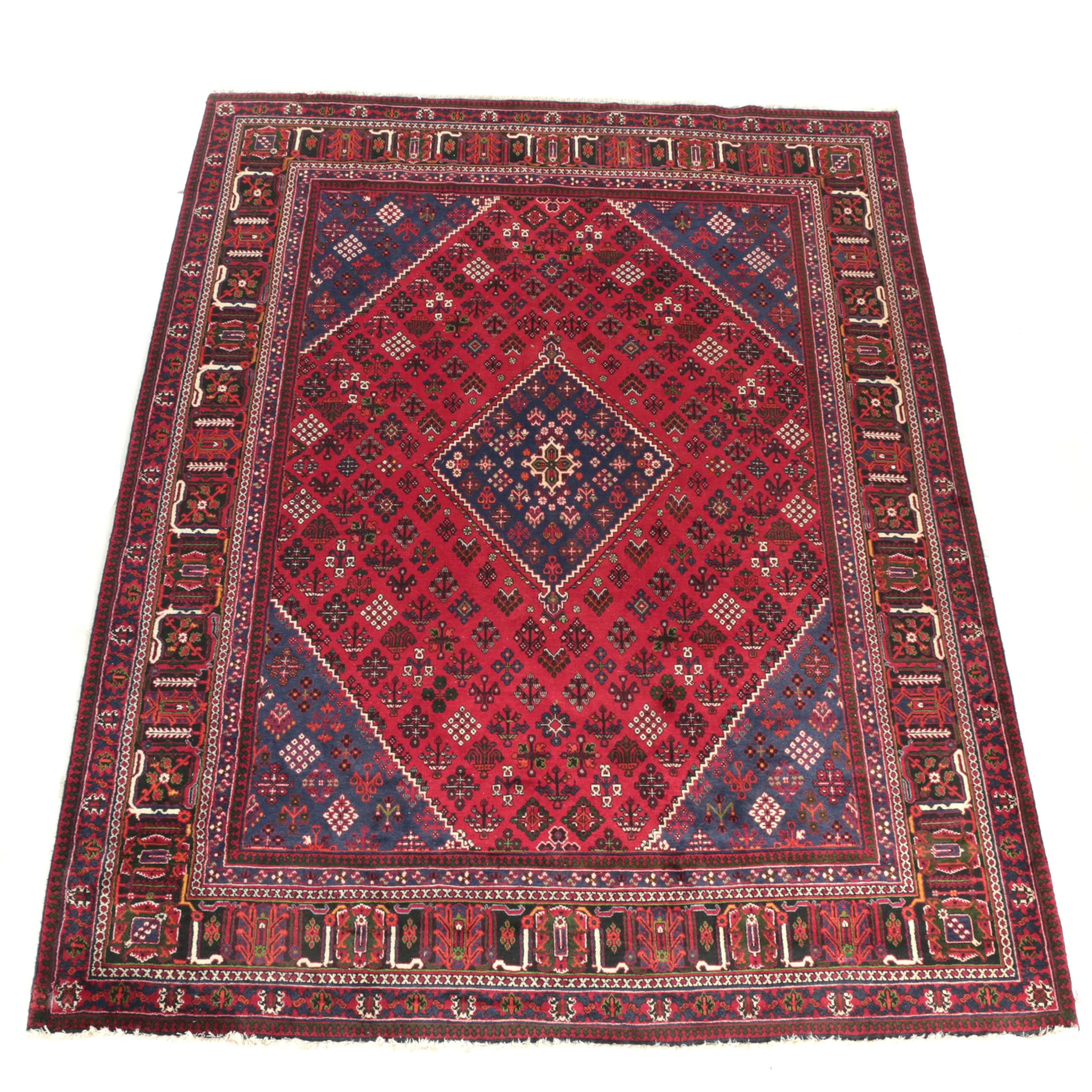 Hand-Knotted Persian Joshegan Area Rug