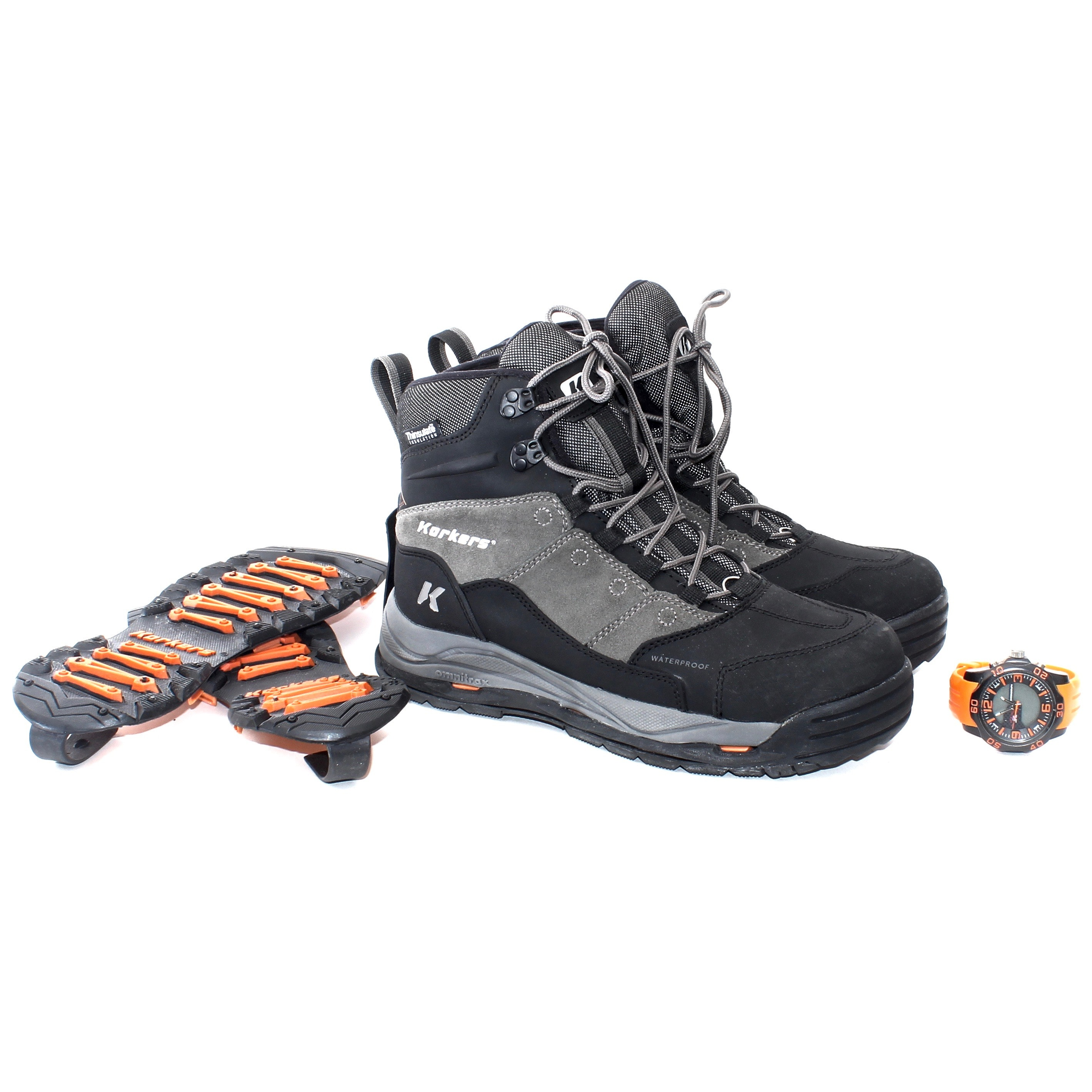 Korkers Omnitrox Insulated Sporting Boots and U.S. Polo Assoc Watch