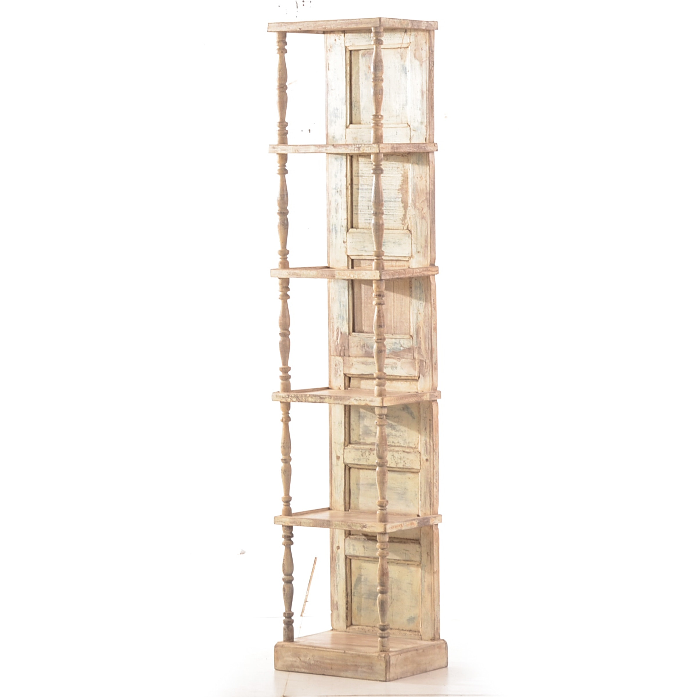Contemporary Etagere with Distressed Finish