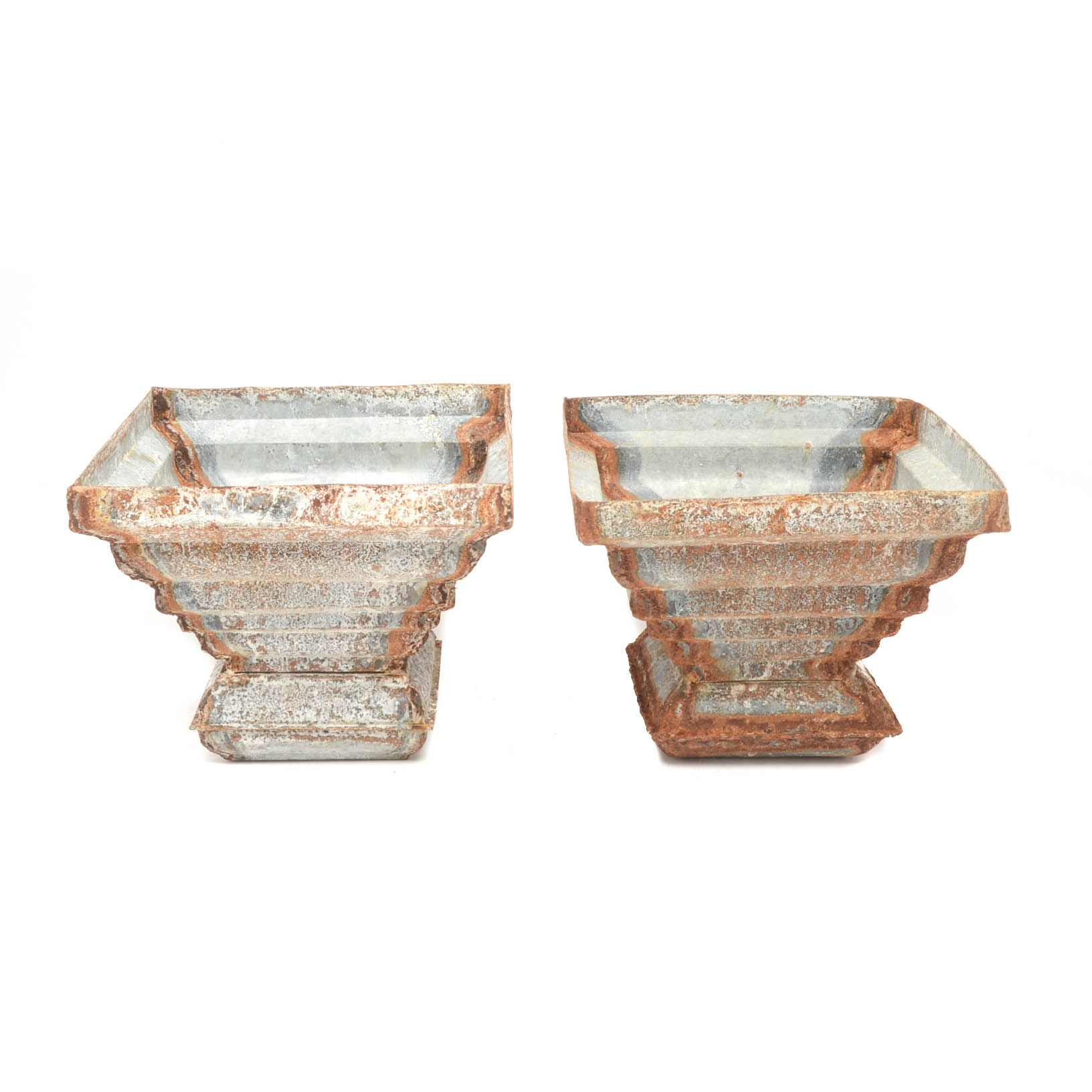 Rustic Square Zinc Risers