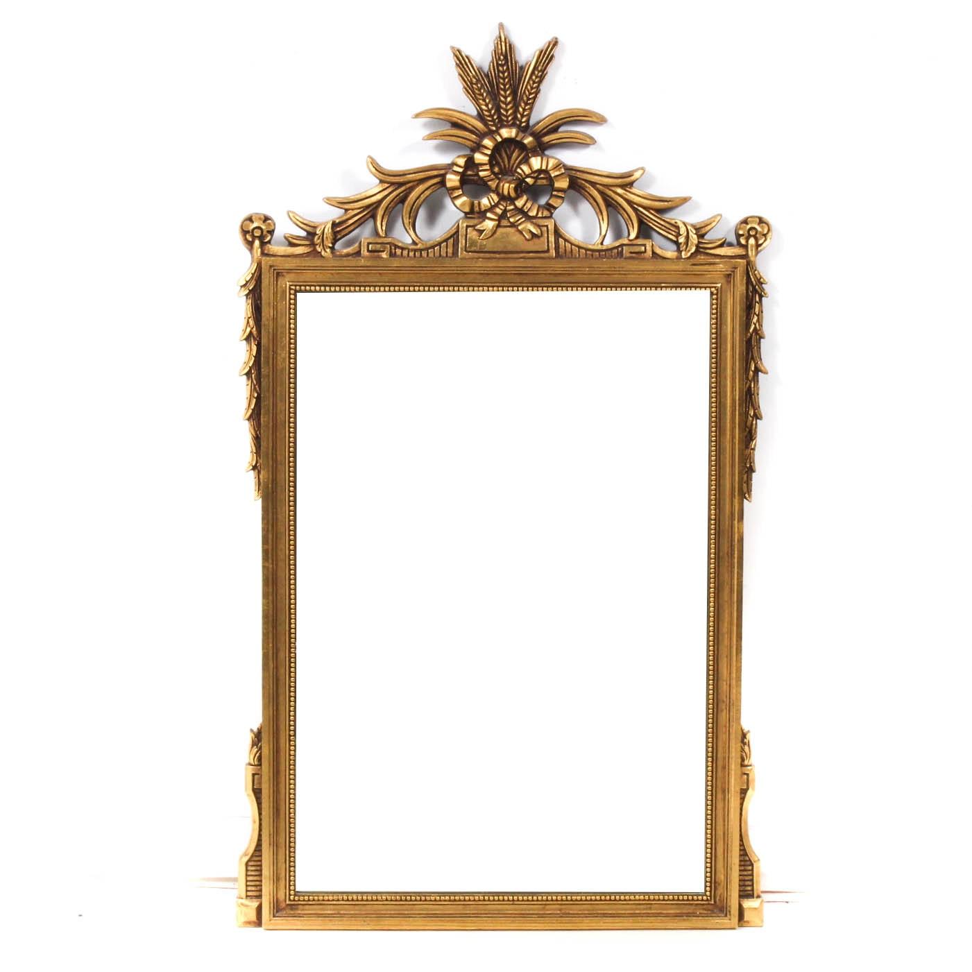 Regency-Style Gilt Wood Wall Mirror