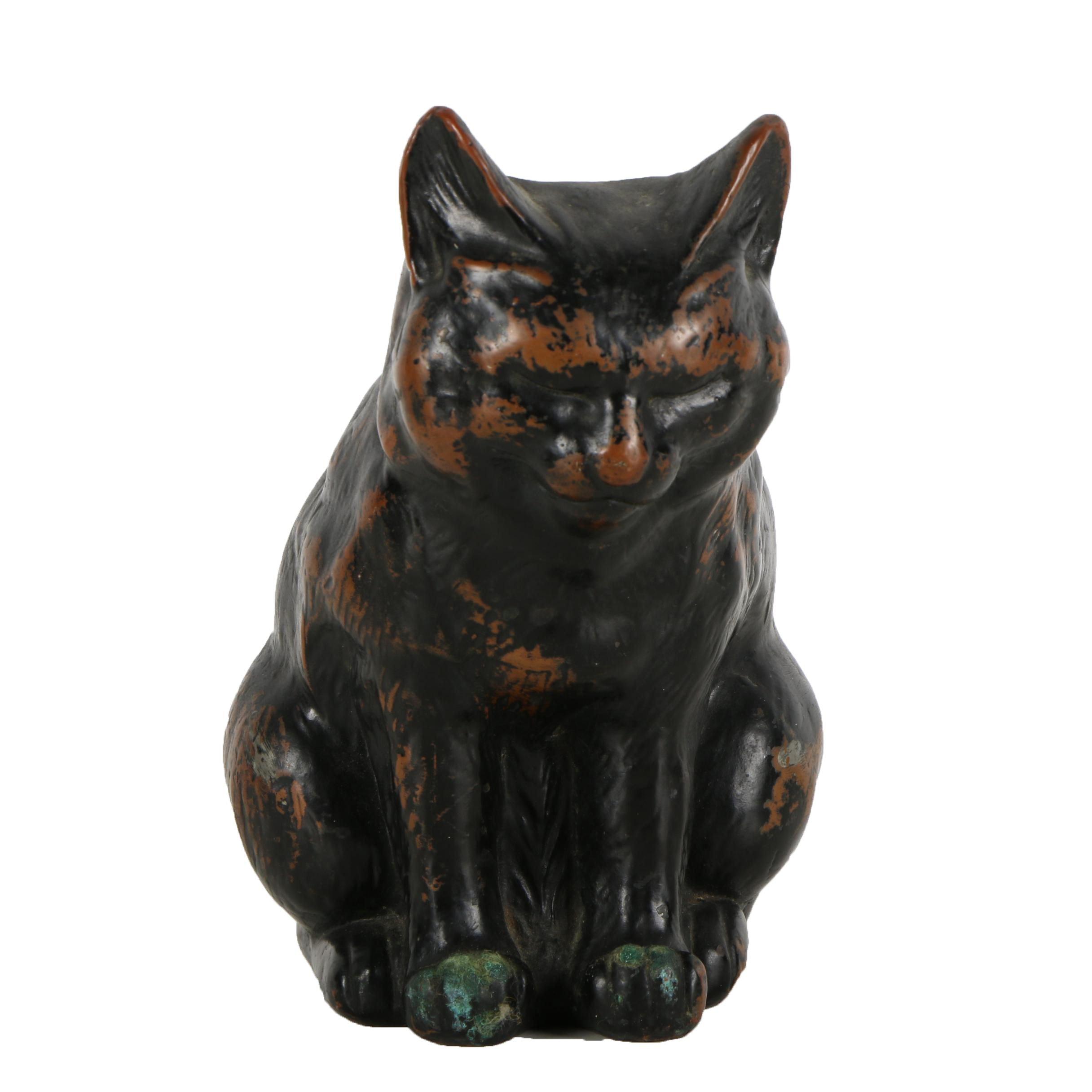 Mid 20th Century Bronze Tone Sculpture