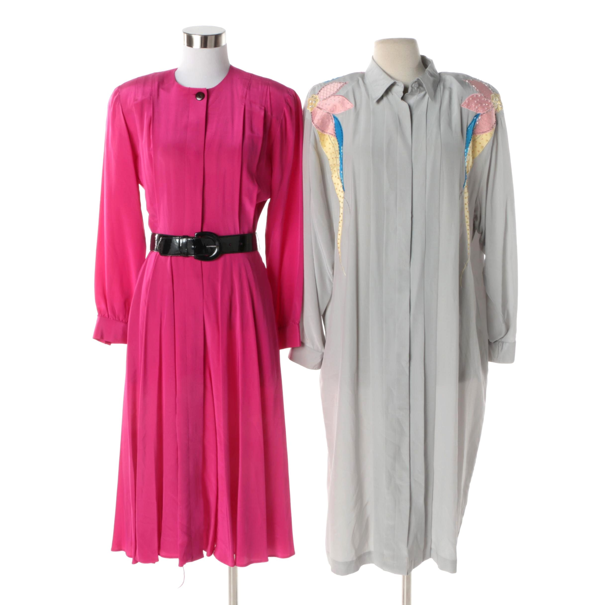 Women's Circa 1990s Aseret and Liz Claiborne Silk Dresses