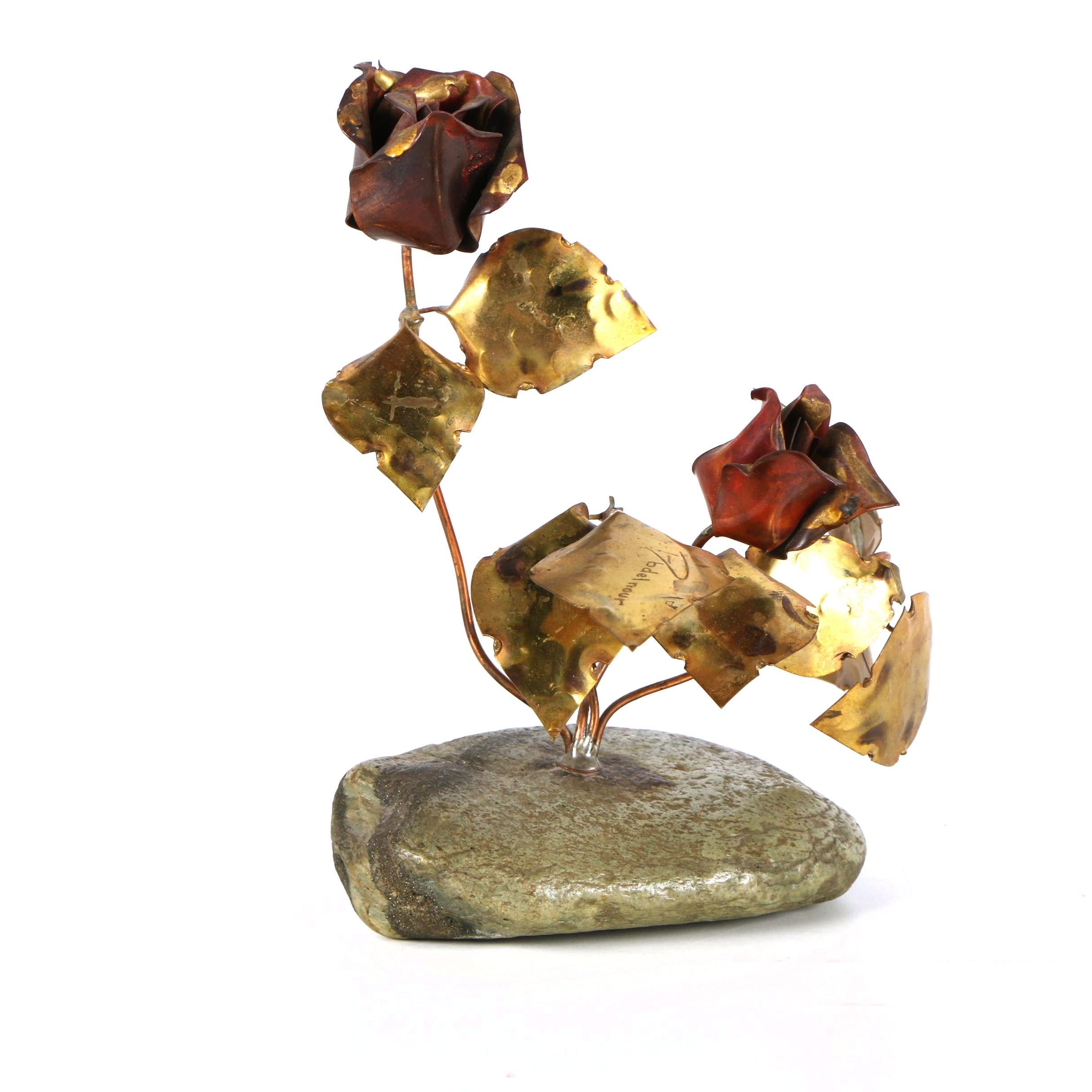 Ernie Abdelnour Copper Sculpture of Roses