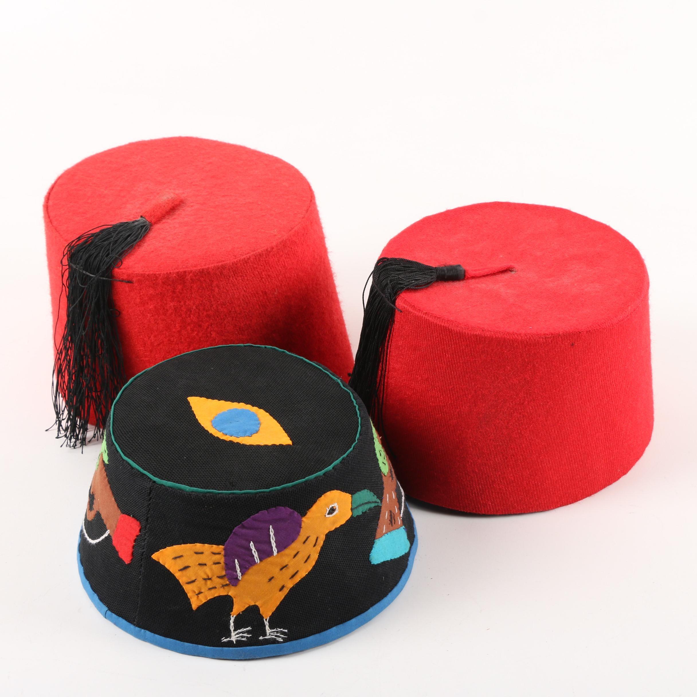 Vintage Fez Hats