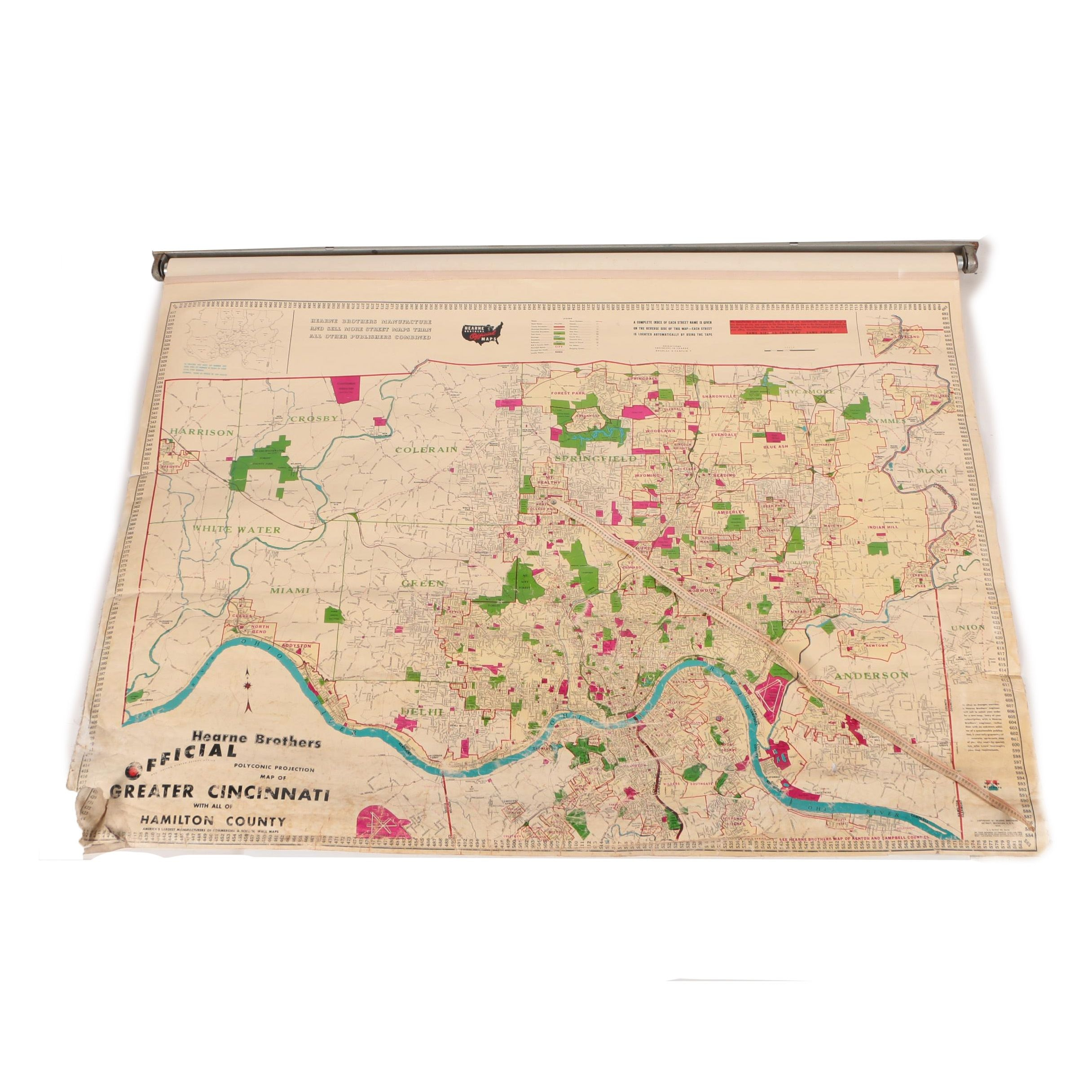 Hearne Brothers Official Map of Greater Cincinnati and Hamilton County