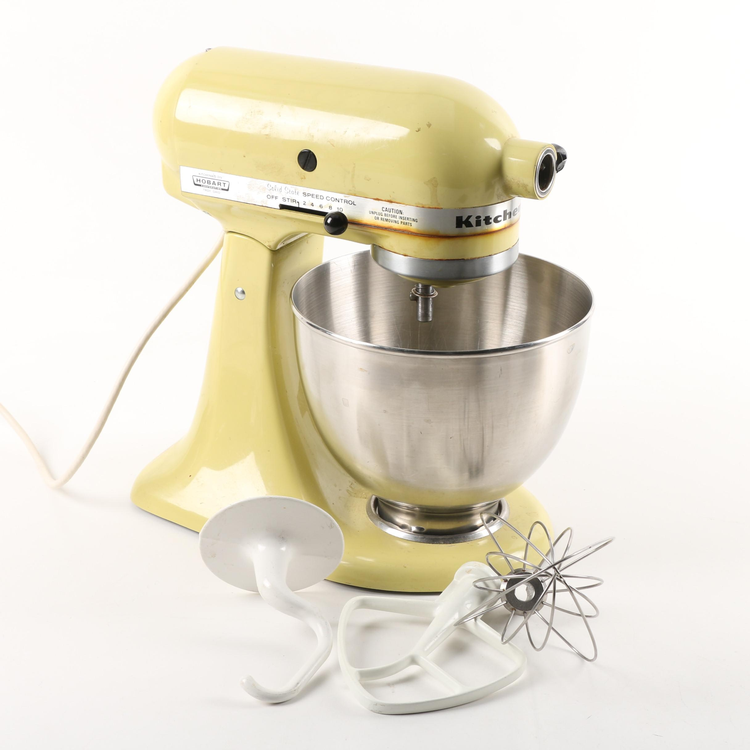 KitchenAid Model K45SS Stand Mixer in Yellow