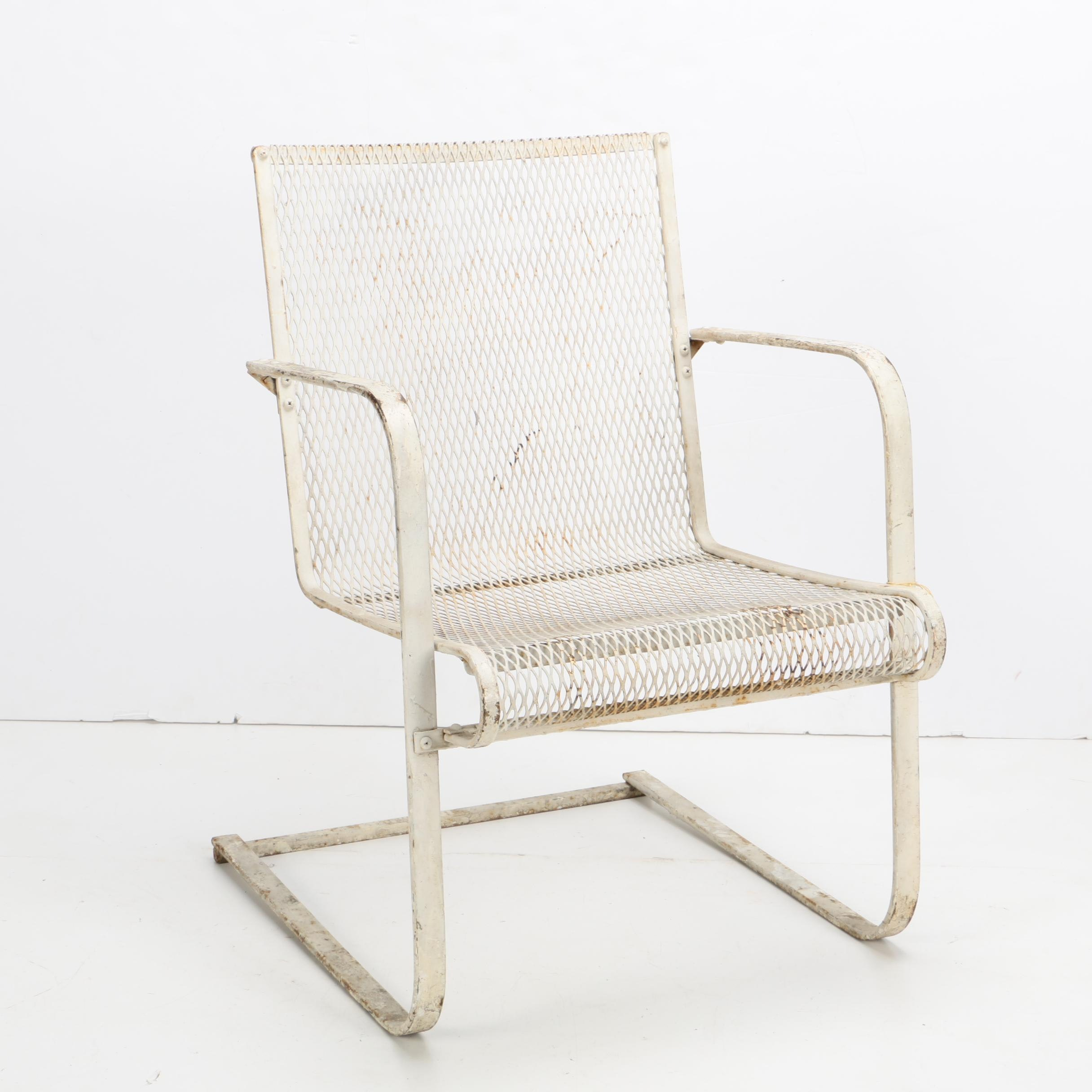 Vintage Steel Spring Patio Chair