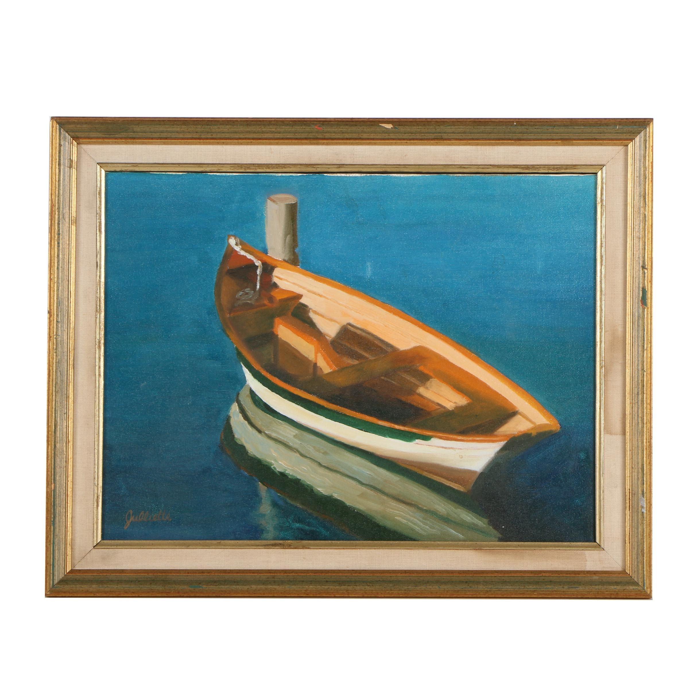 "Julliette M. Carignan Oil Painting ""Marion Dinghy"""