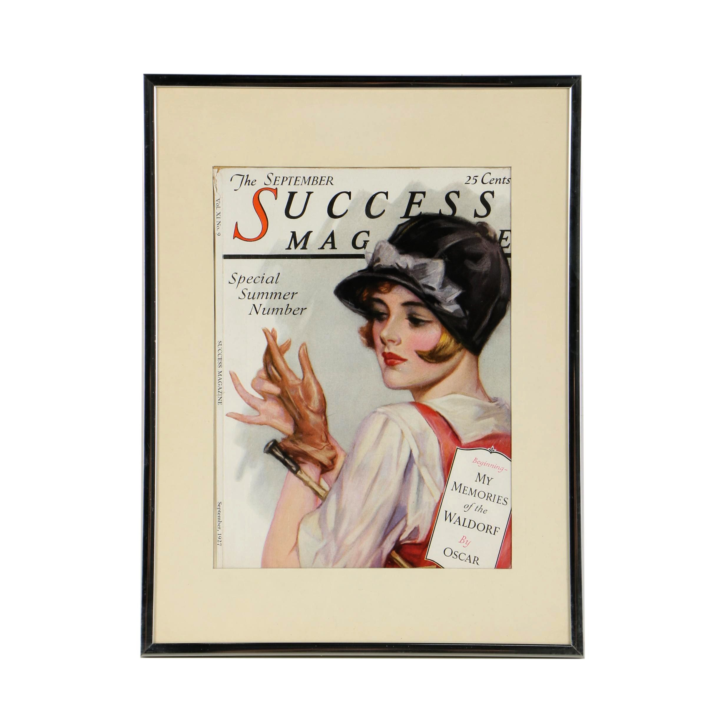 "September, 1927 Offset Lithograph Cover for ""Success Magazine"""