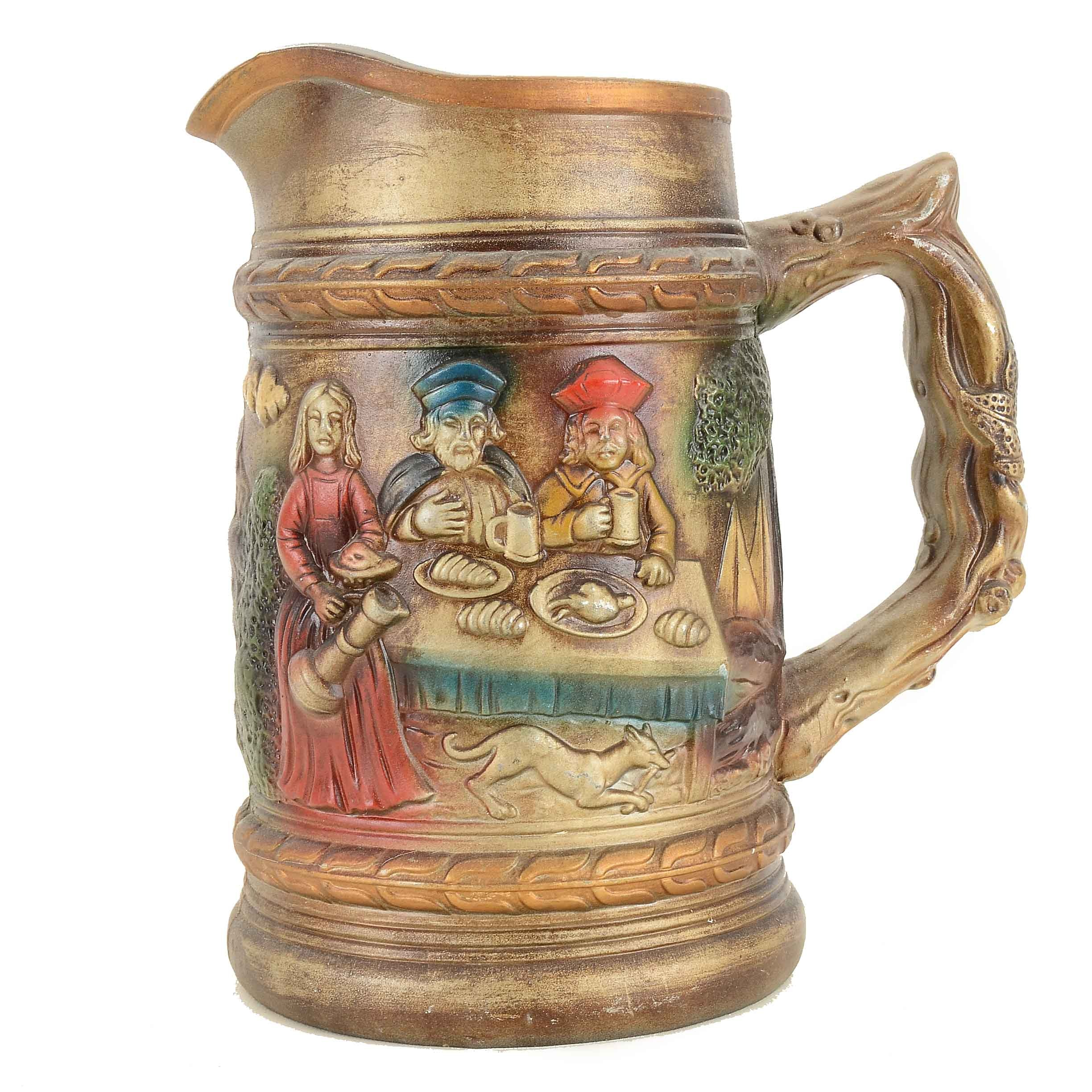 Large Decorative Beer Tankard