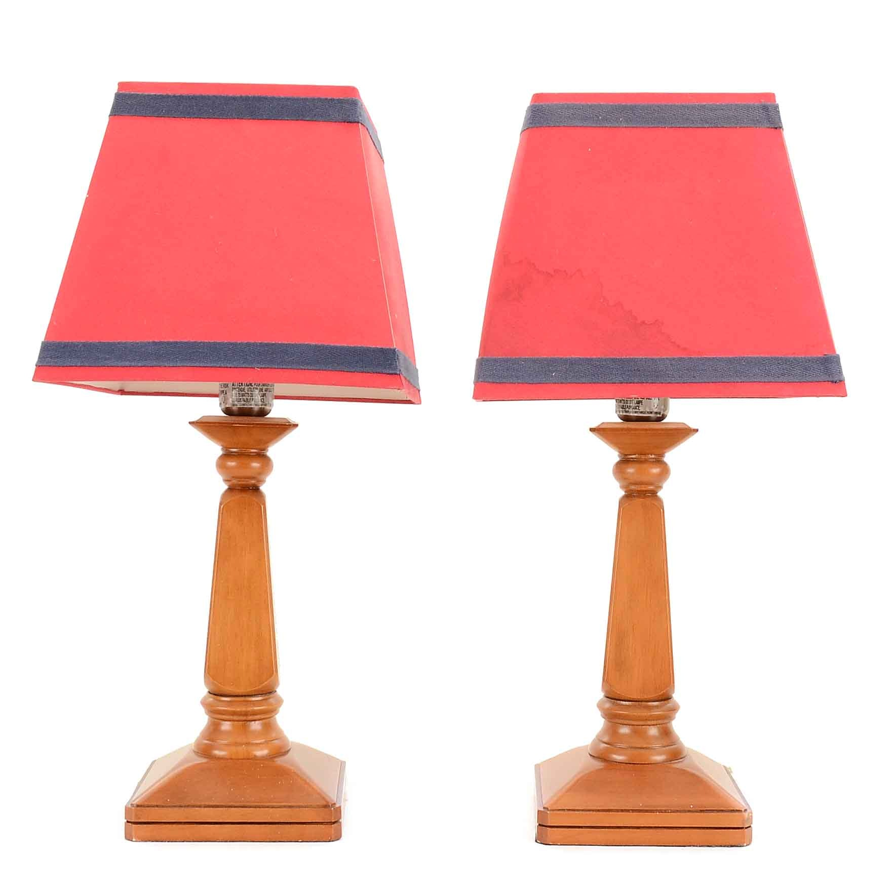 Contemporary Wood Table Lamps