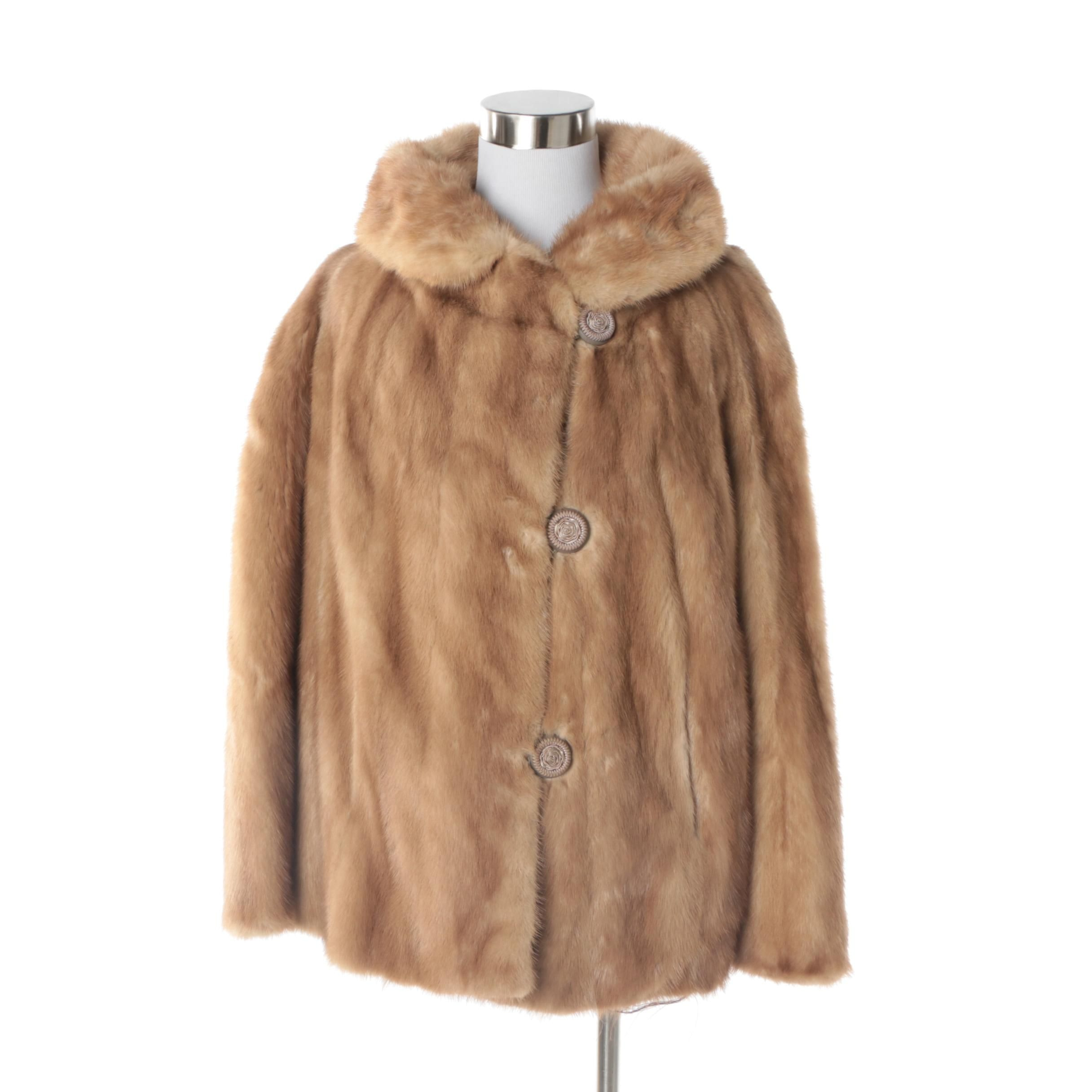 Women's Vintage Hessel Furs Dark Blonde Mink Fur Coat
