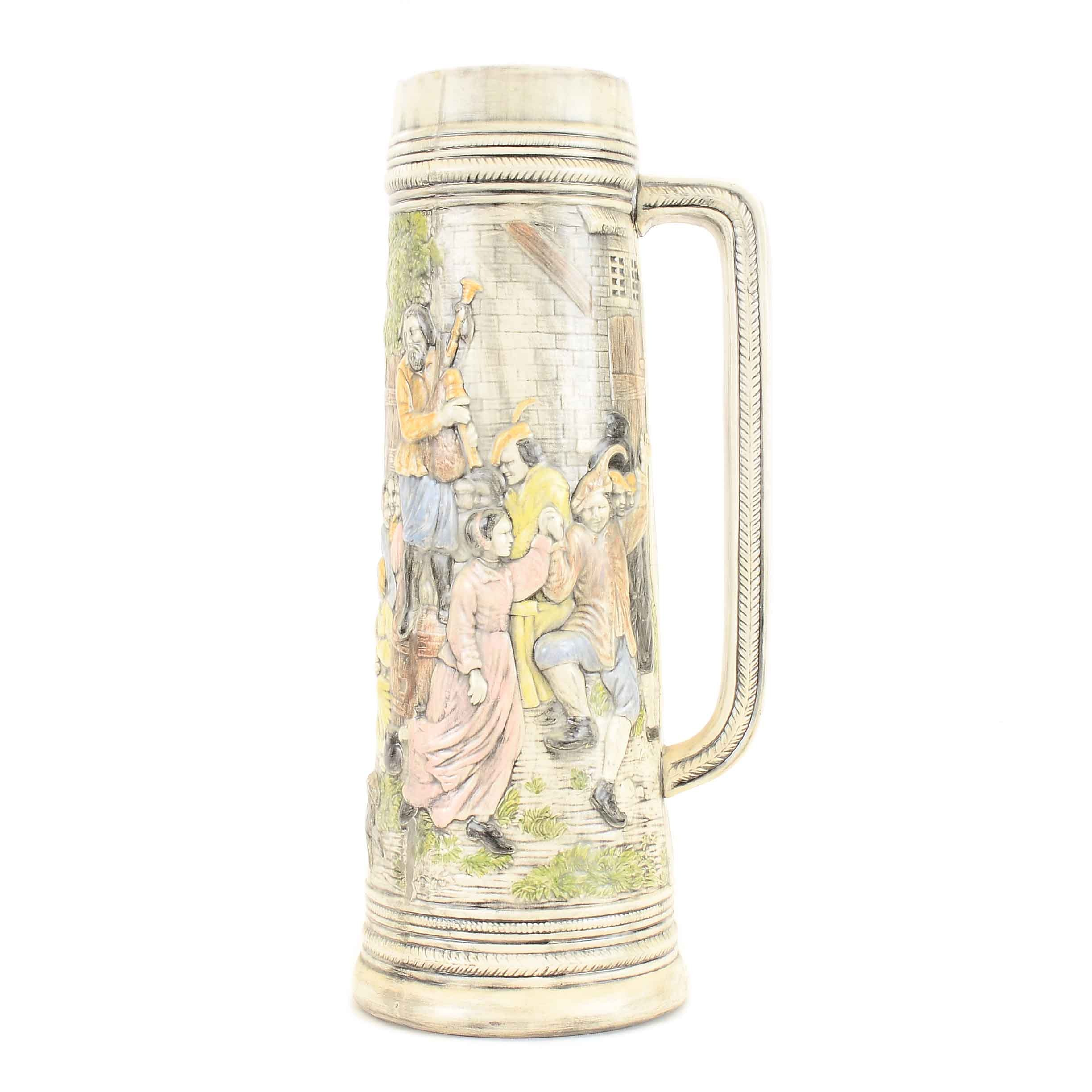 Large Decorative Beer Stein