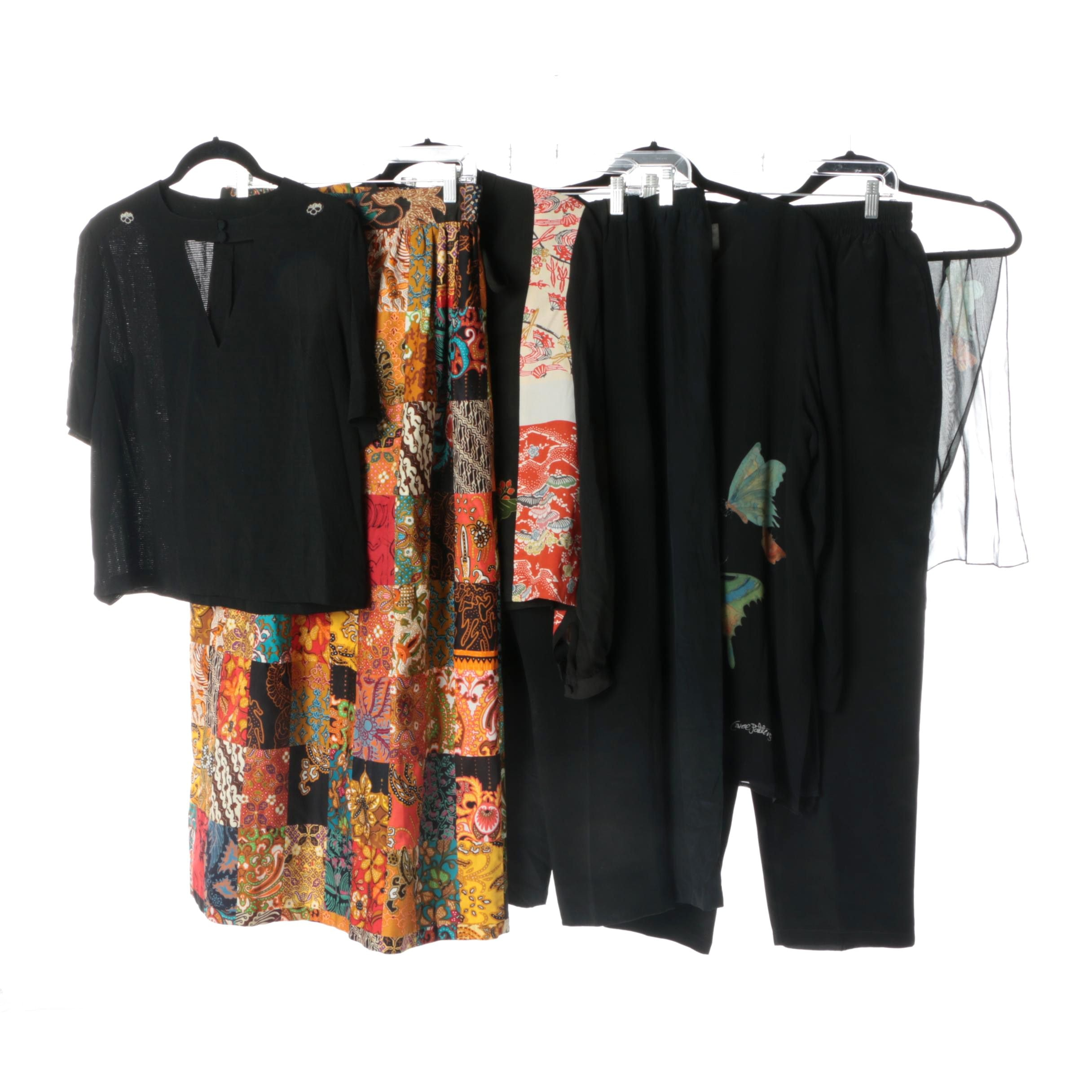 Women's Vintage Silk Separates Including Carol Patterson and Tomoyo
