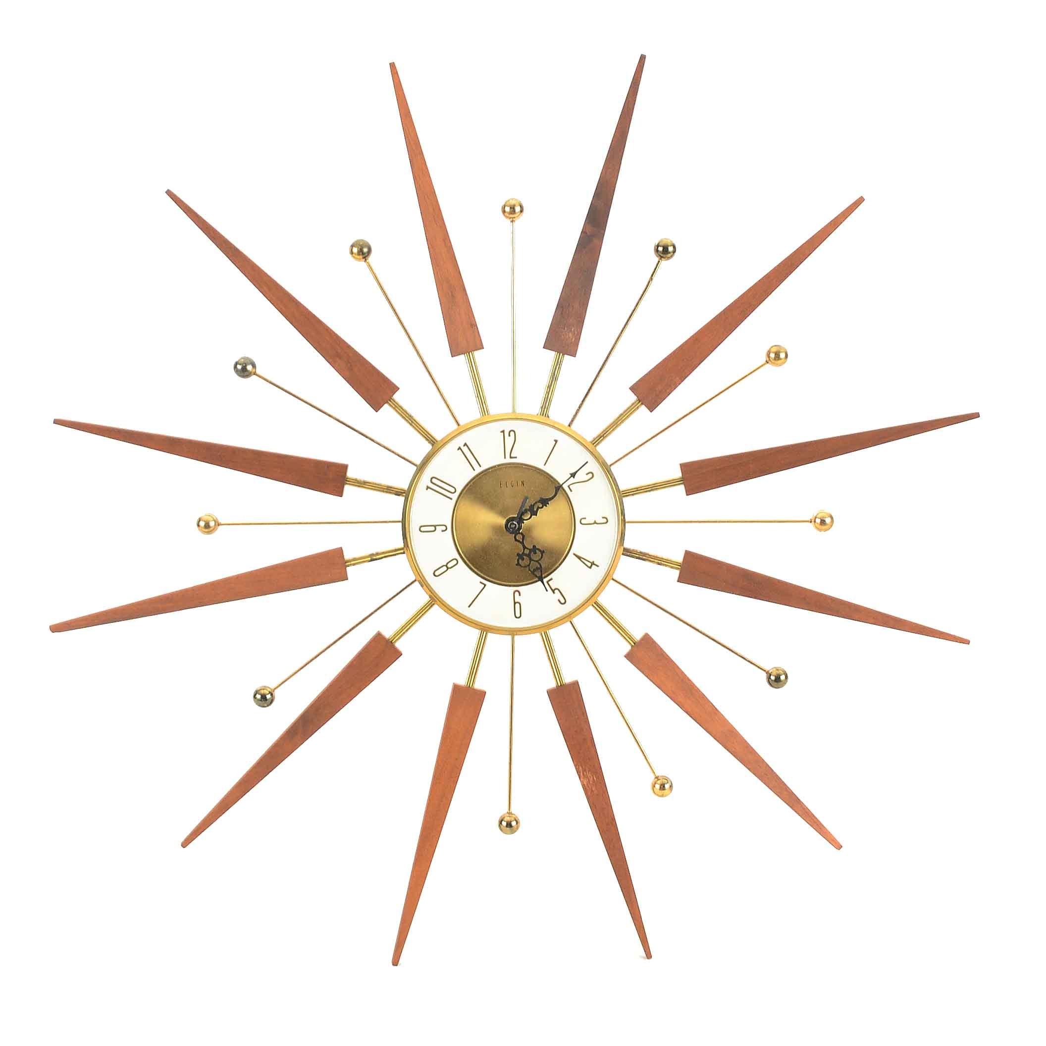 Elgin Sunburst Wall Clock
