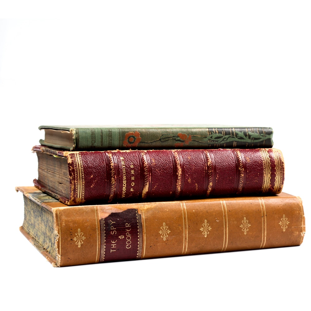 Antique Novel and Poetry Books