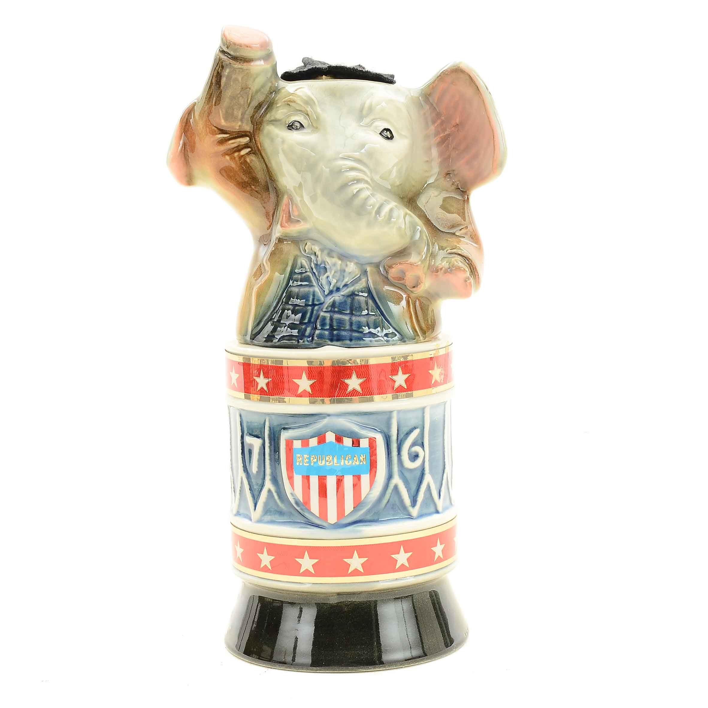 Jim Beam Bicentennial Republican Elephant Decanter
