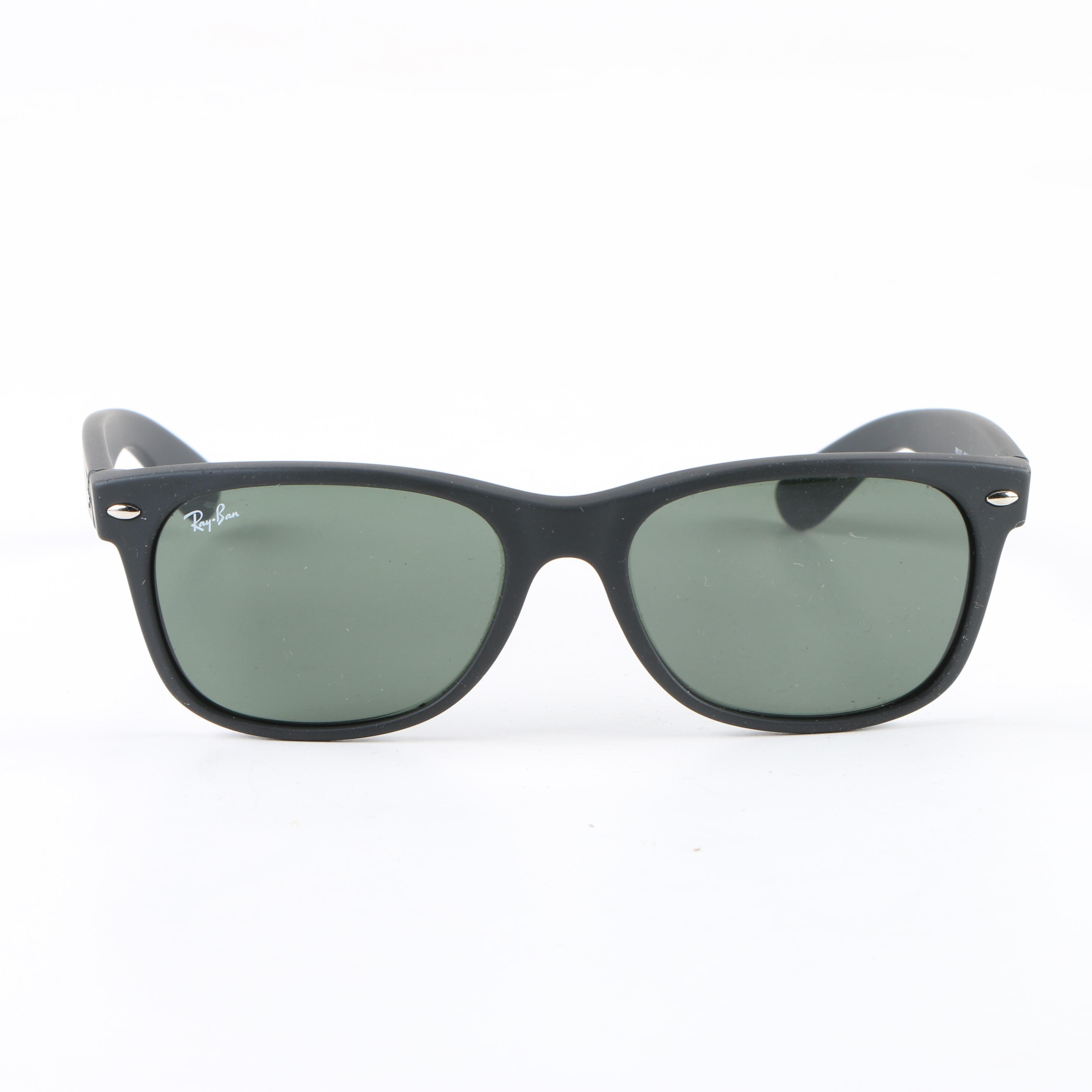 Ray-Ban New Wayfarer Matte Black Sunglasses, Made in Italy