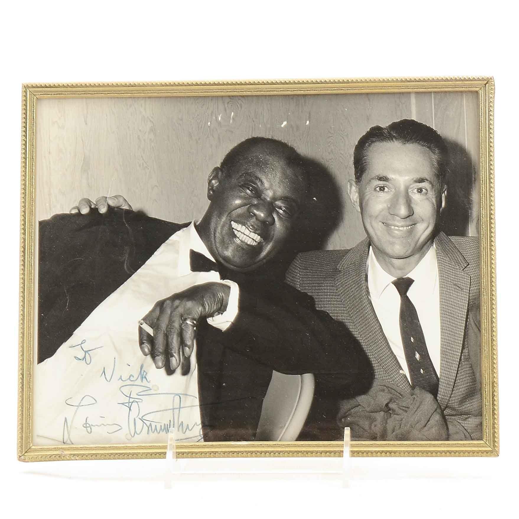 Louis Armstrong Signed Photo  COA