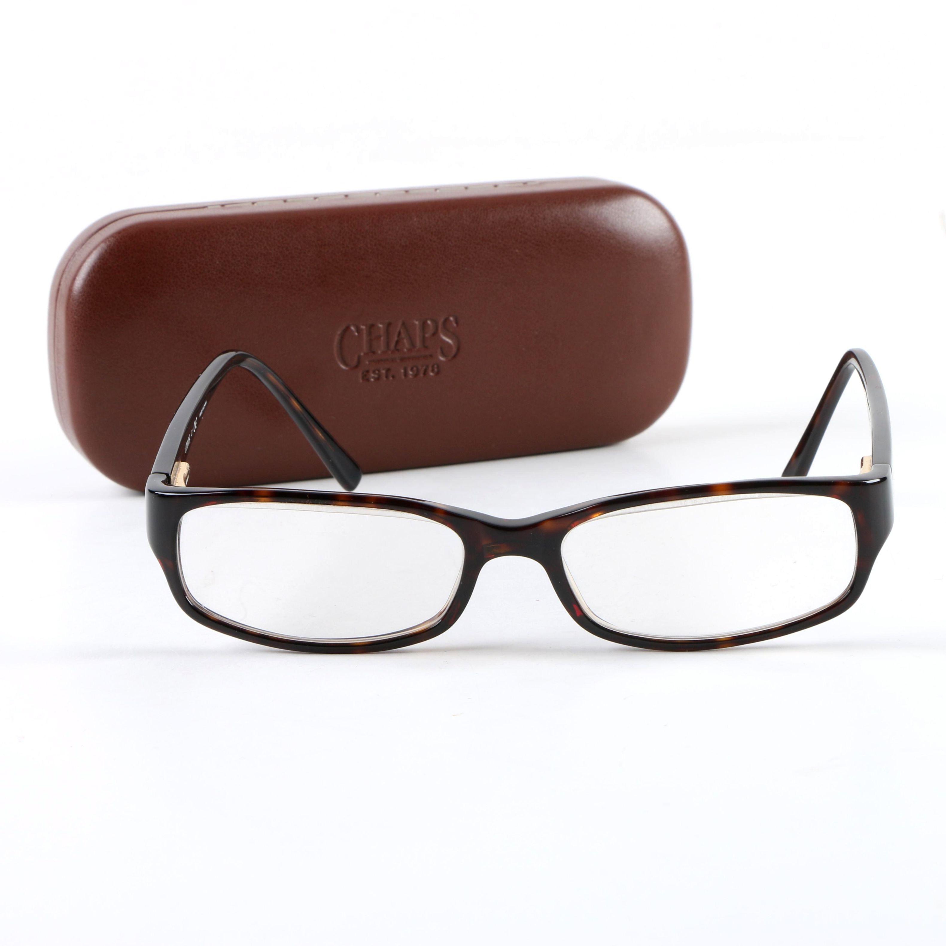 Chaps Tortoiseshell Style Prescription Eyeglasses with Case