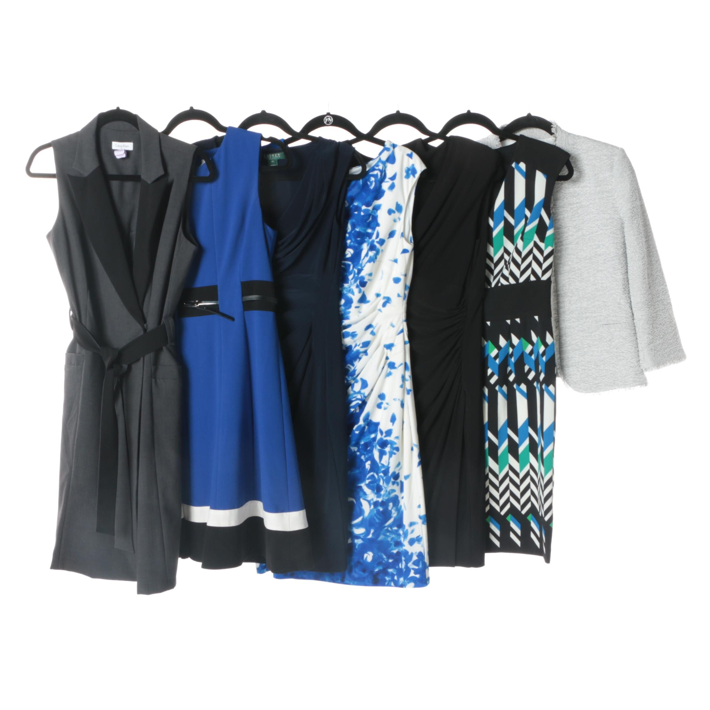 Contemporary Dresses and Jacket Including Calvin Klein and Lauren Ralph Lauren