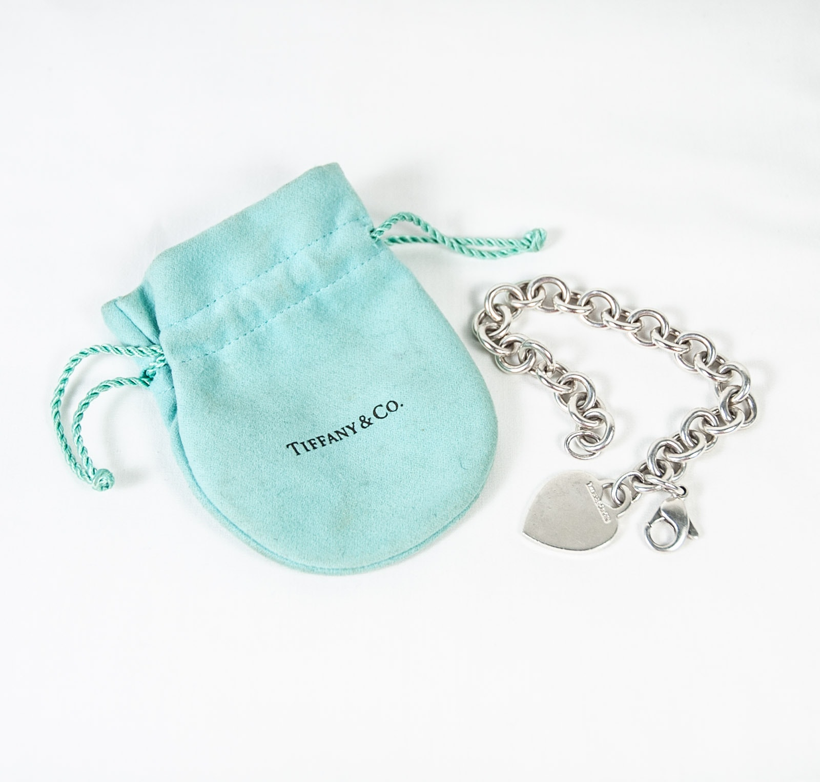 Tiffany & Co. Sterling Silver Heart Charm Bracelet