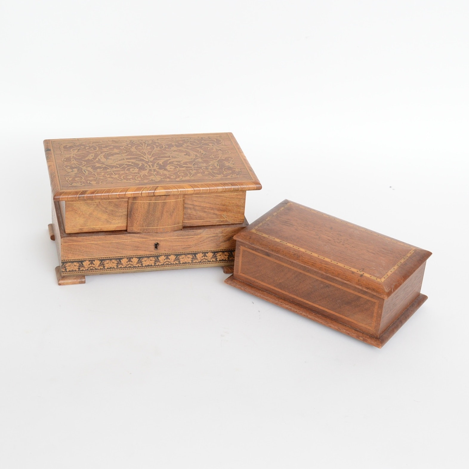 Pair of Wooden Jewelry Boxes