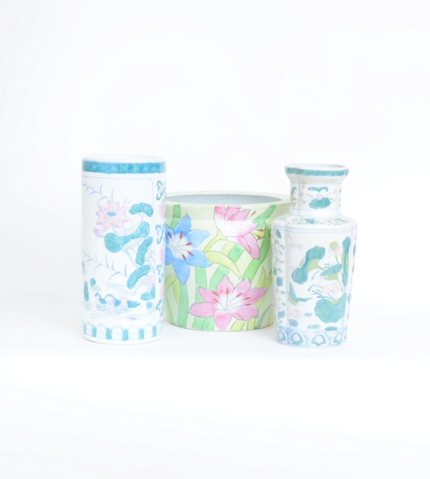 Collection of Porcelain Planter and Vases