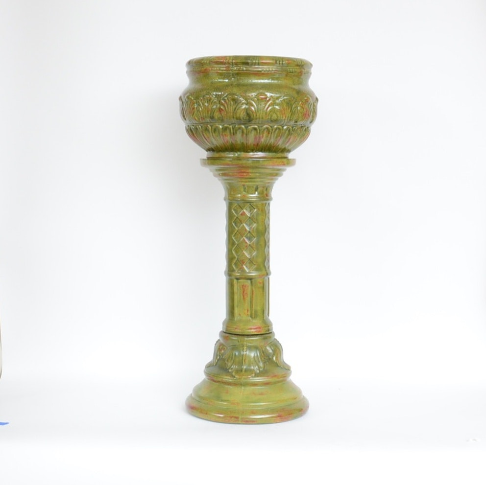 Spectrum Ceramic Jardiniere and Pedestal