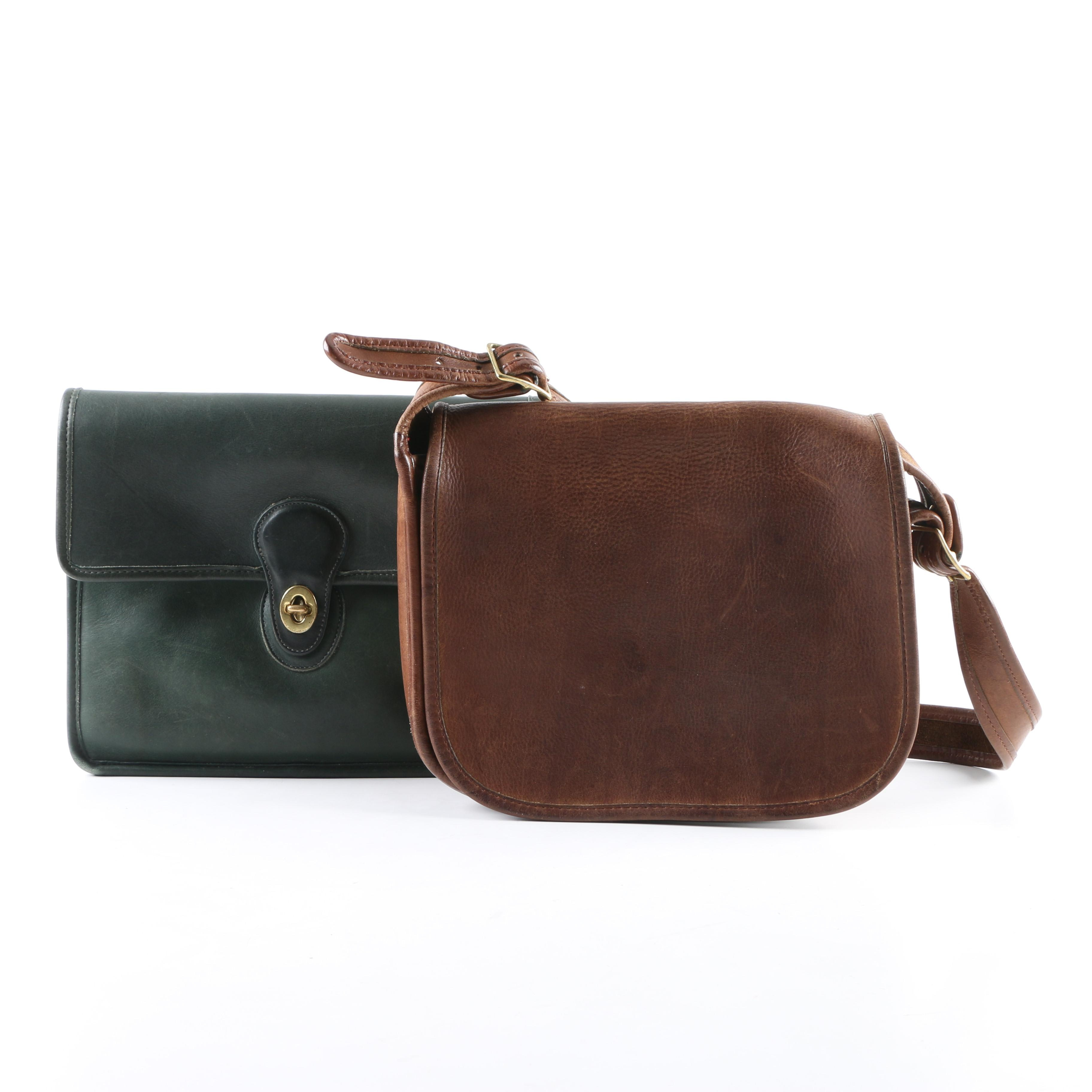 Vintage Coach Willis and New York City Leather Shoulder Bags