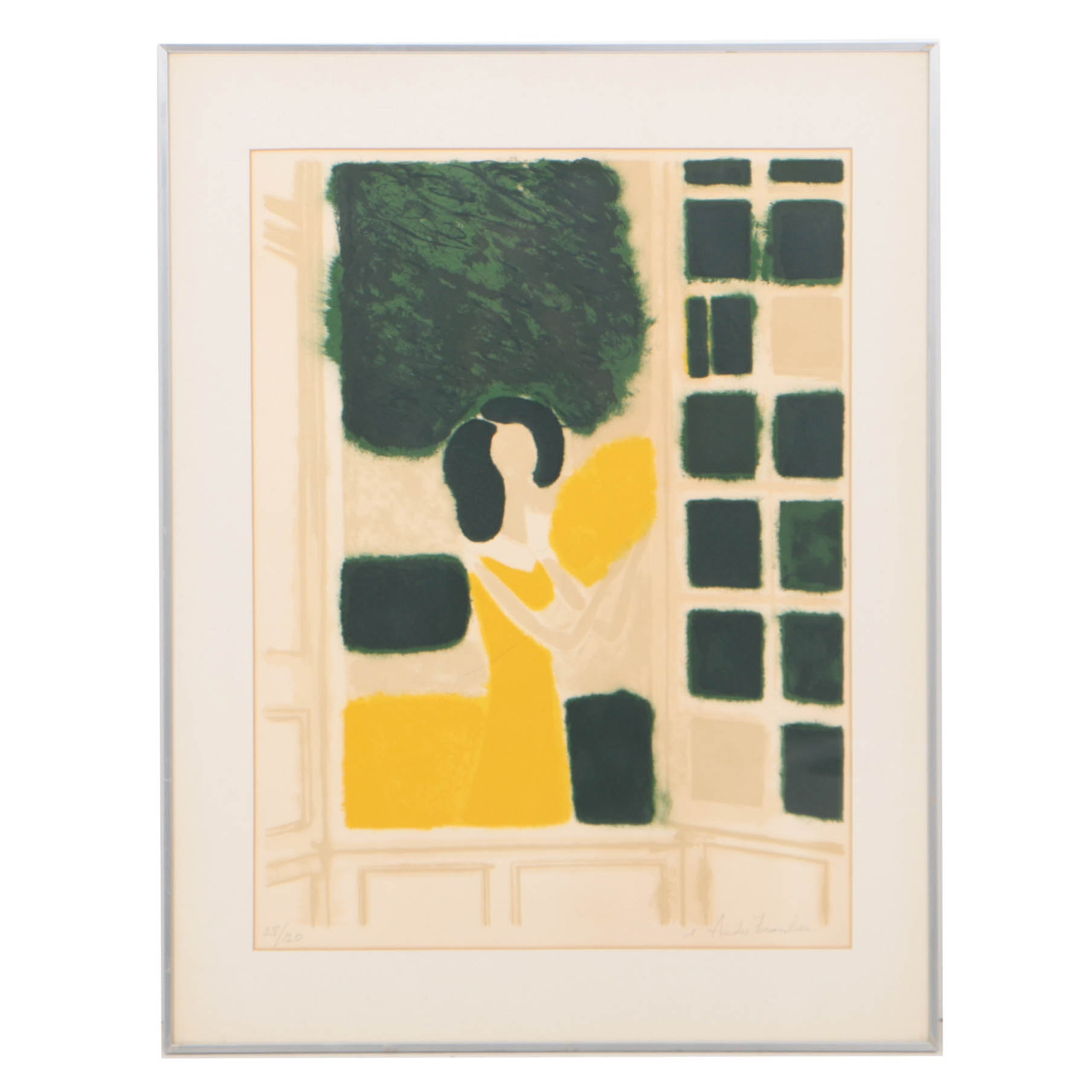 André Brasilier Limited Edition Color Lithograph