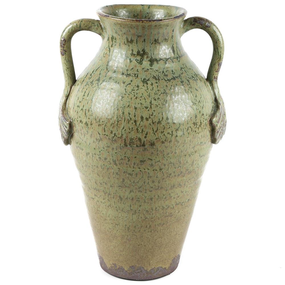 Large Thrown Stoneware Vase