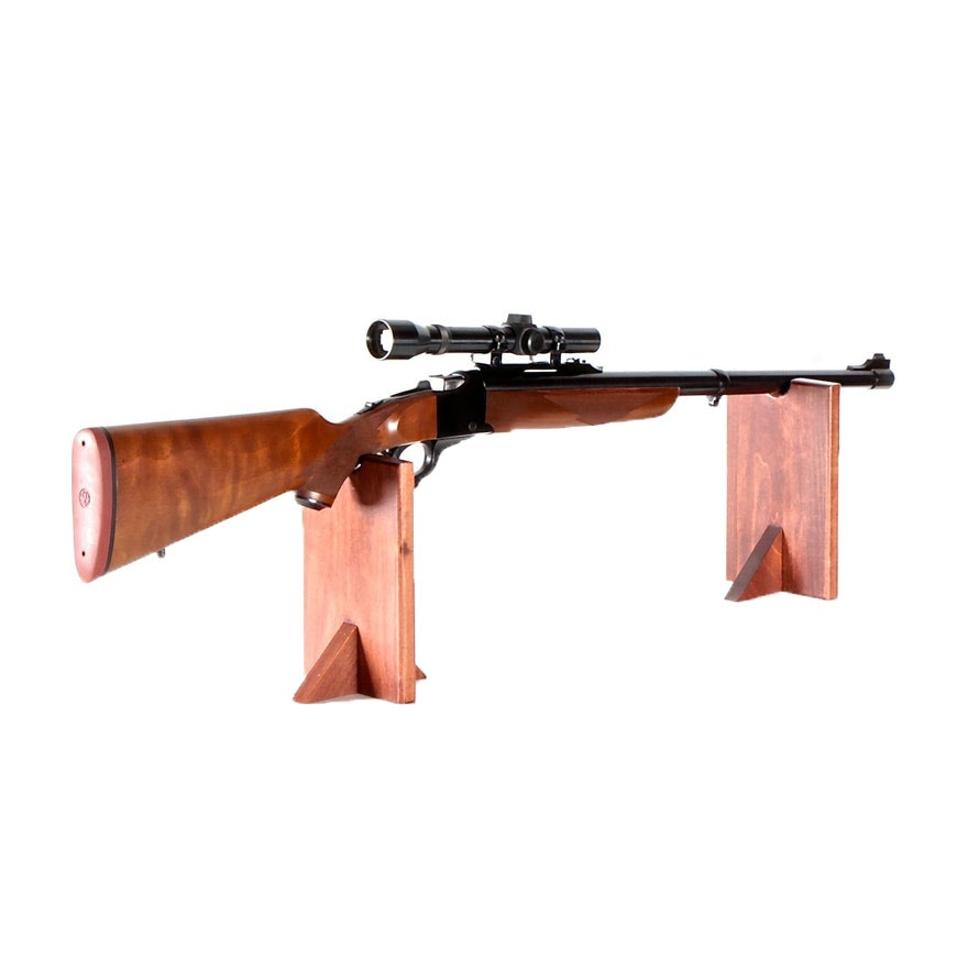 Ruger No. 1 Falling Block Rifle in .458 Winchester Magnum & Weaver Rifle Scope