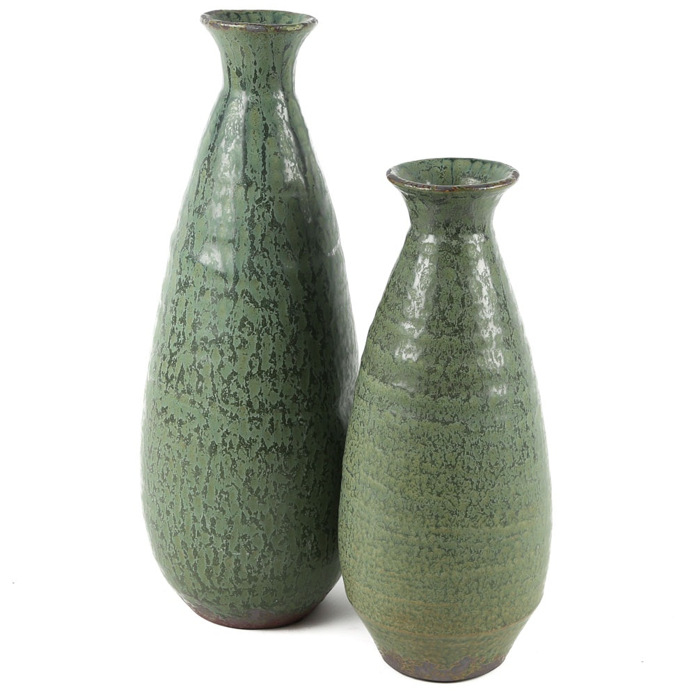Contemporary Stoneware Art Pottery Vases