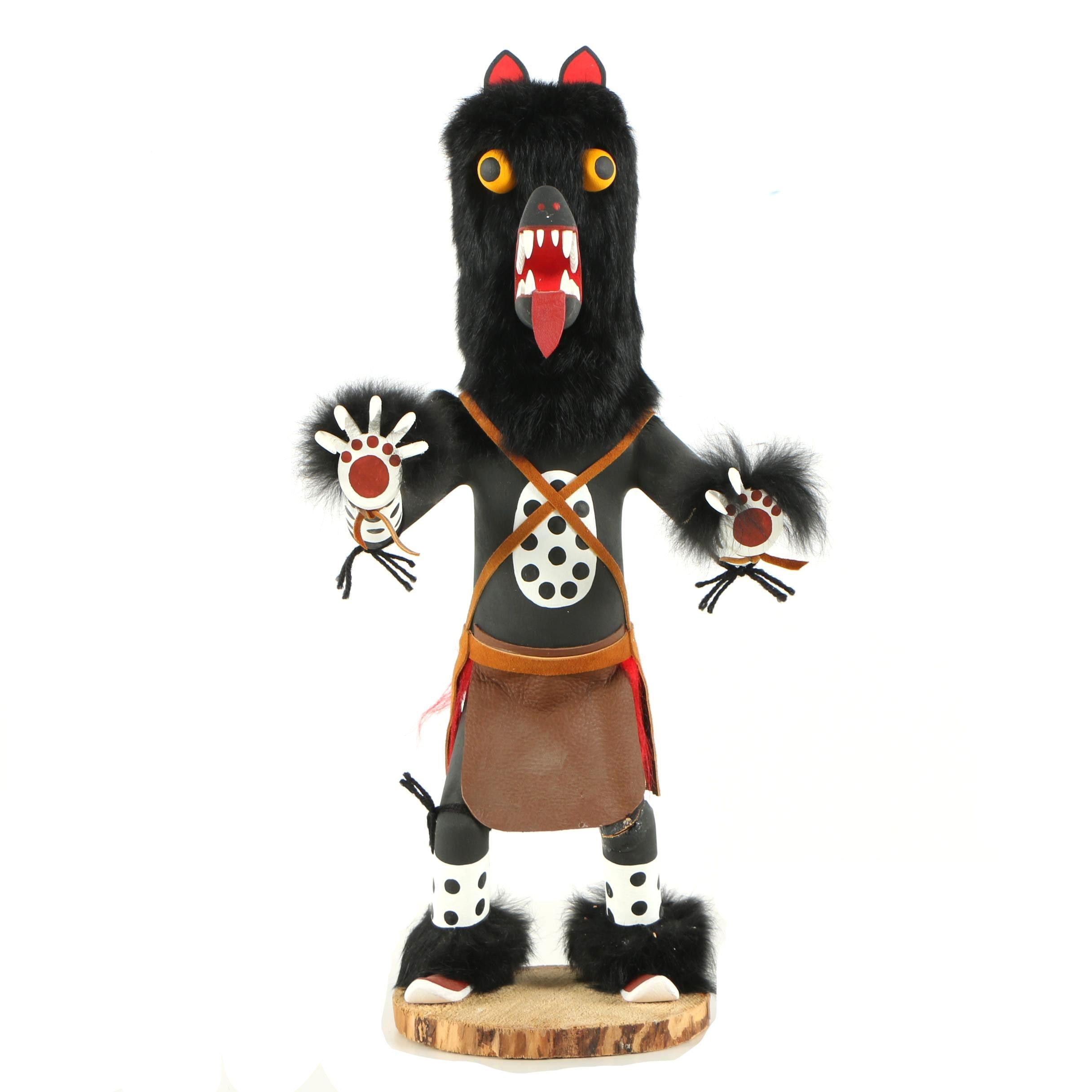 "Navajo Inspired Kachina Doll ""Black Bear"""