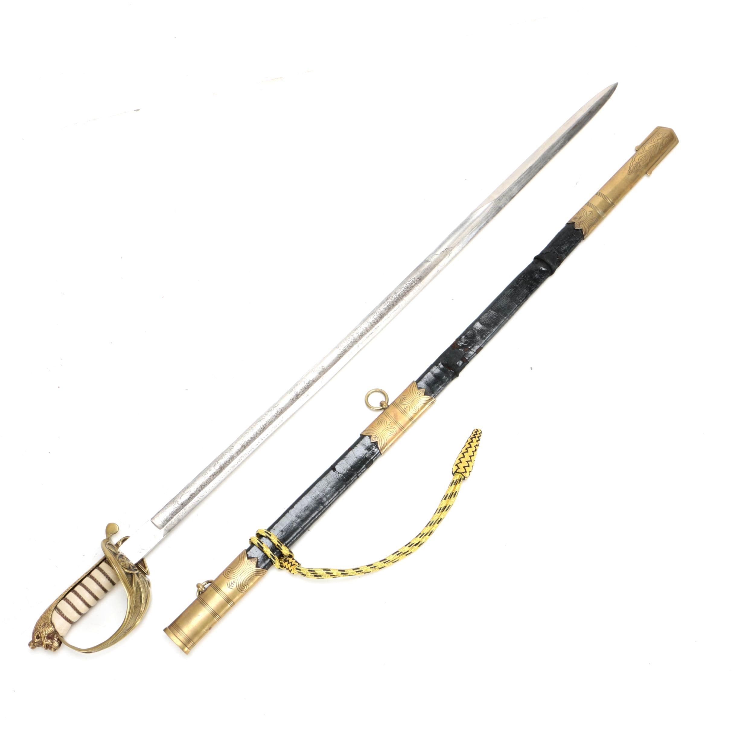 Vintage British Royal Naval Officer's Sword