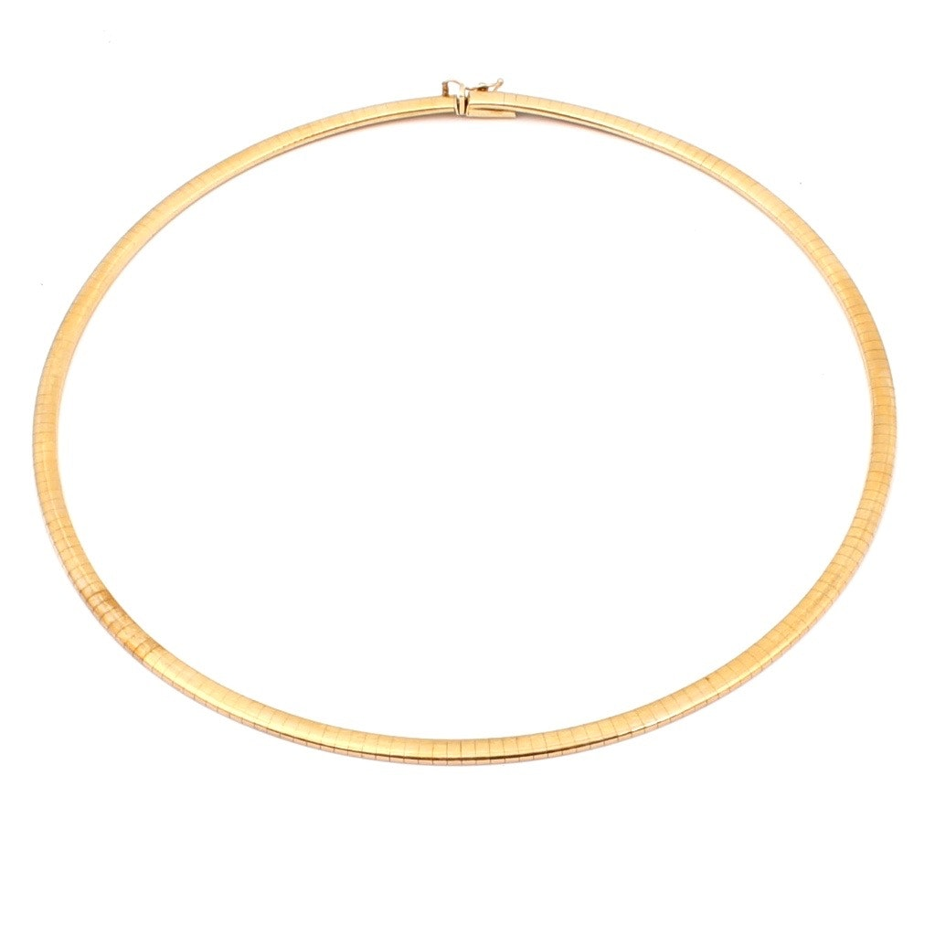 14K Yellow Gold Omega Link Necklace