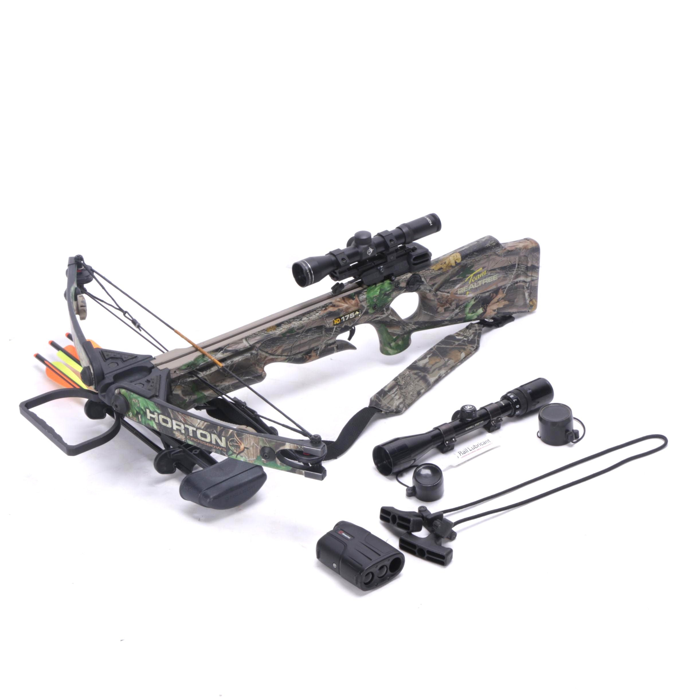 Horton Team Realtree HD 175 Crossbow with Practice Points and Scopes