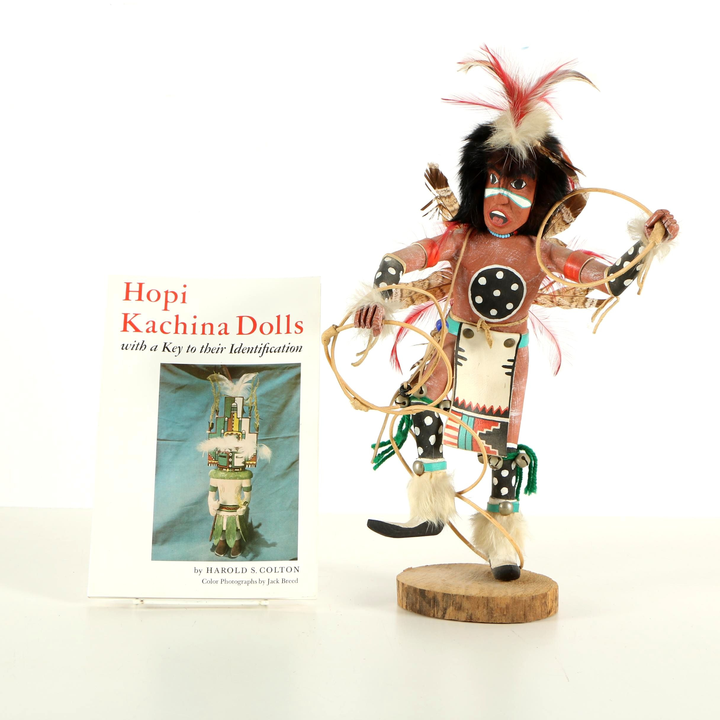 """Hopi Kachina Dolls"" and A. Largo Kachina Doll ""Hoop Dancer"""