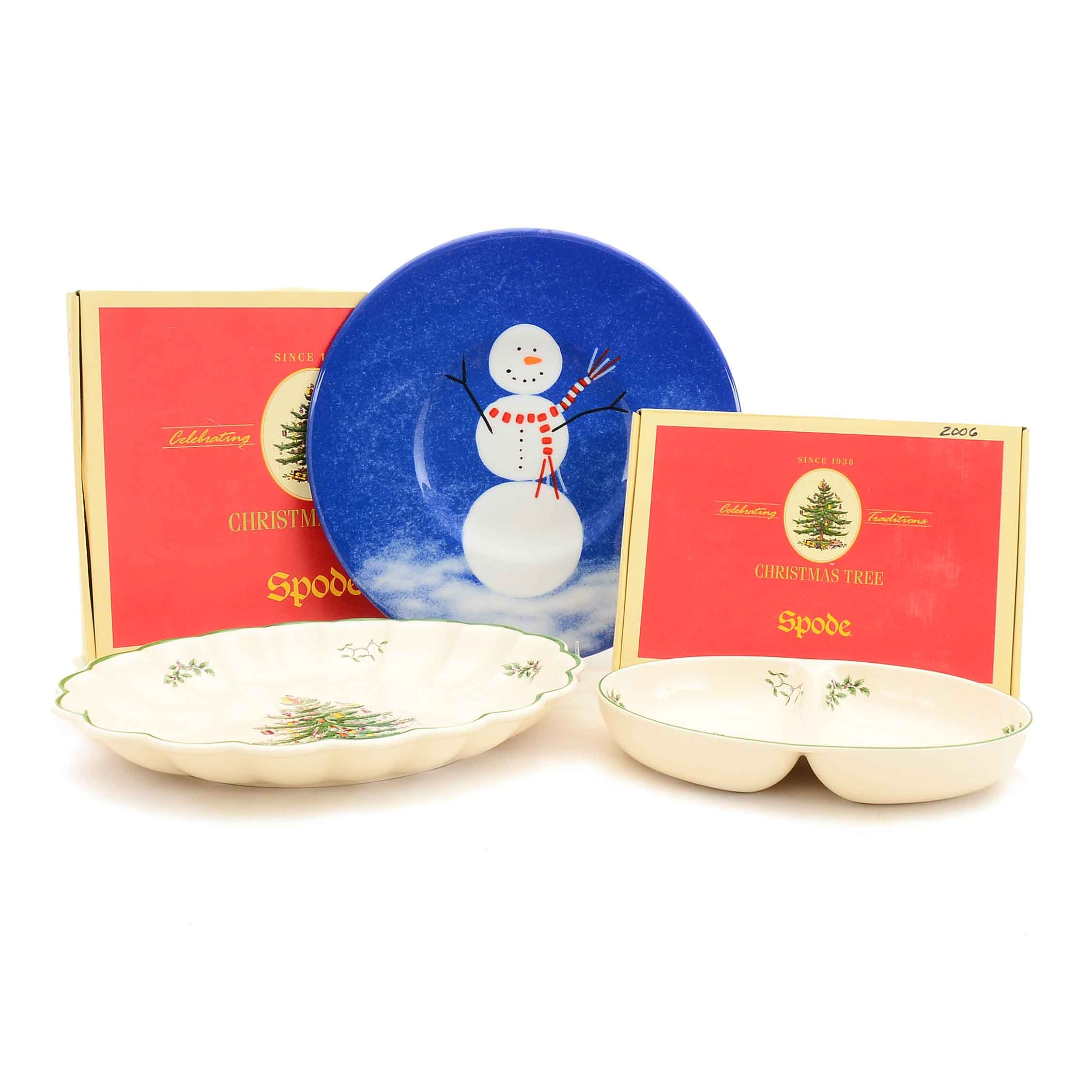 Group of Holiday Serveware including Spode