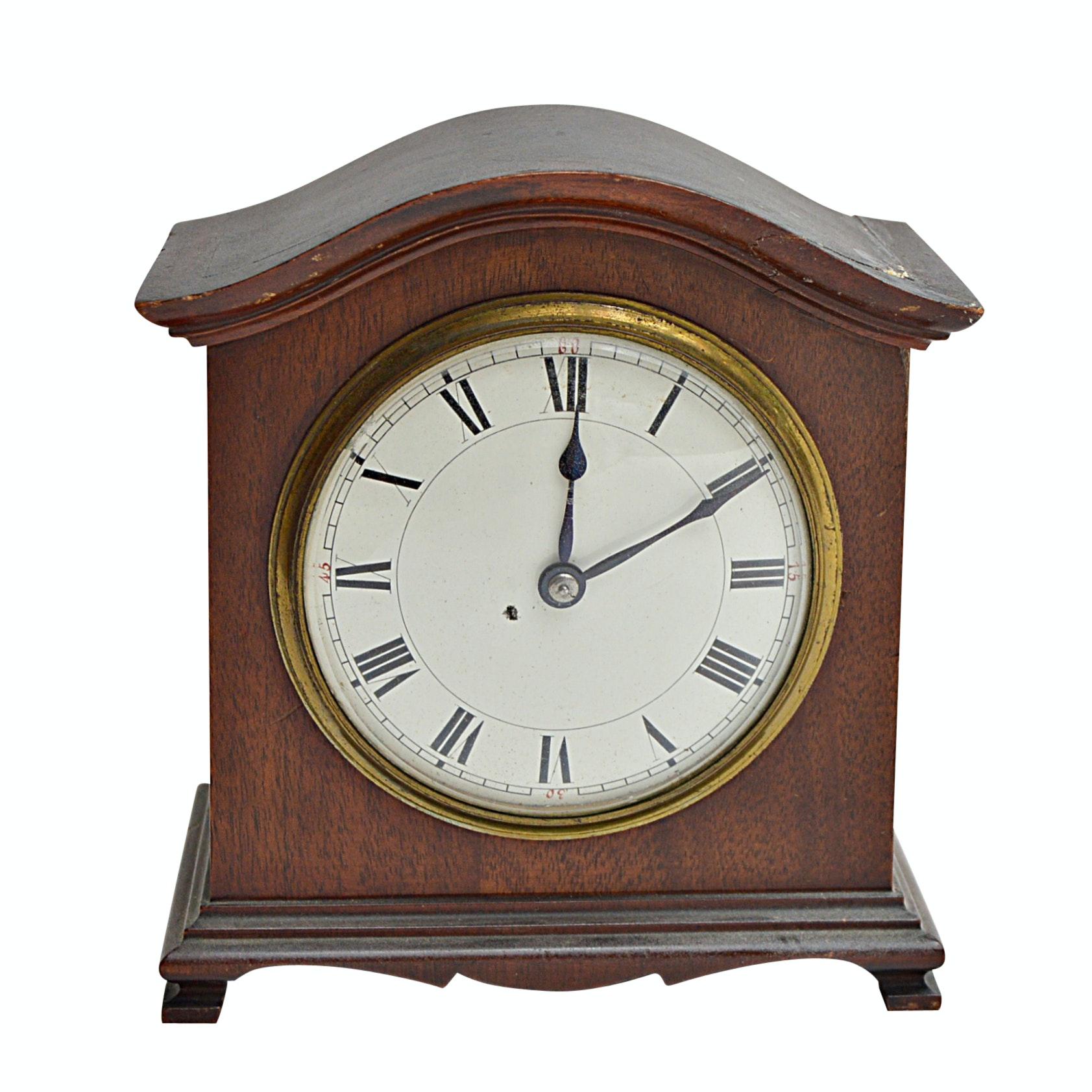 Vintage French Duverdrey & Bloquel Walnut Mantle Clock