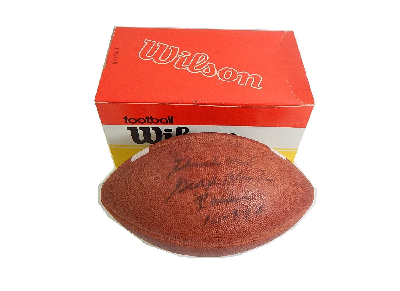 HOF George Blanda Signed Vintage Wilson Football