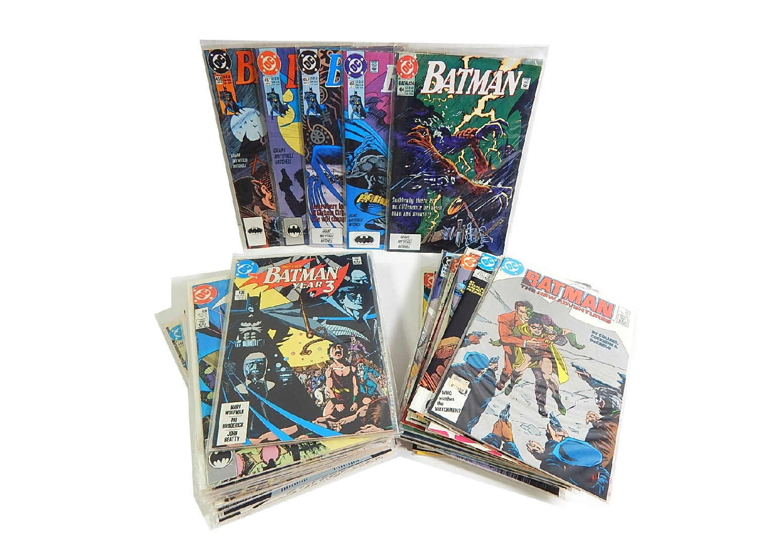 "1980s and 1990s DC Comics with ""Batman"""